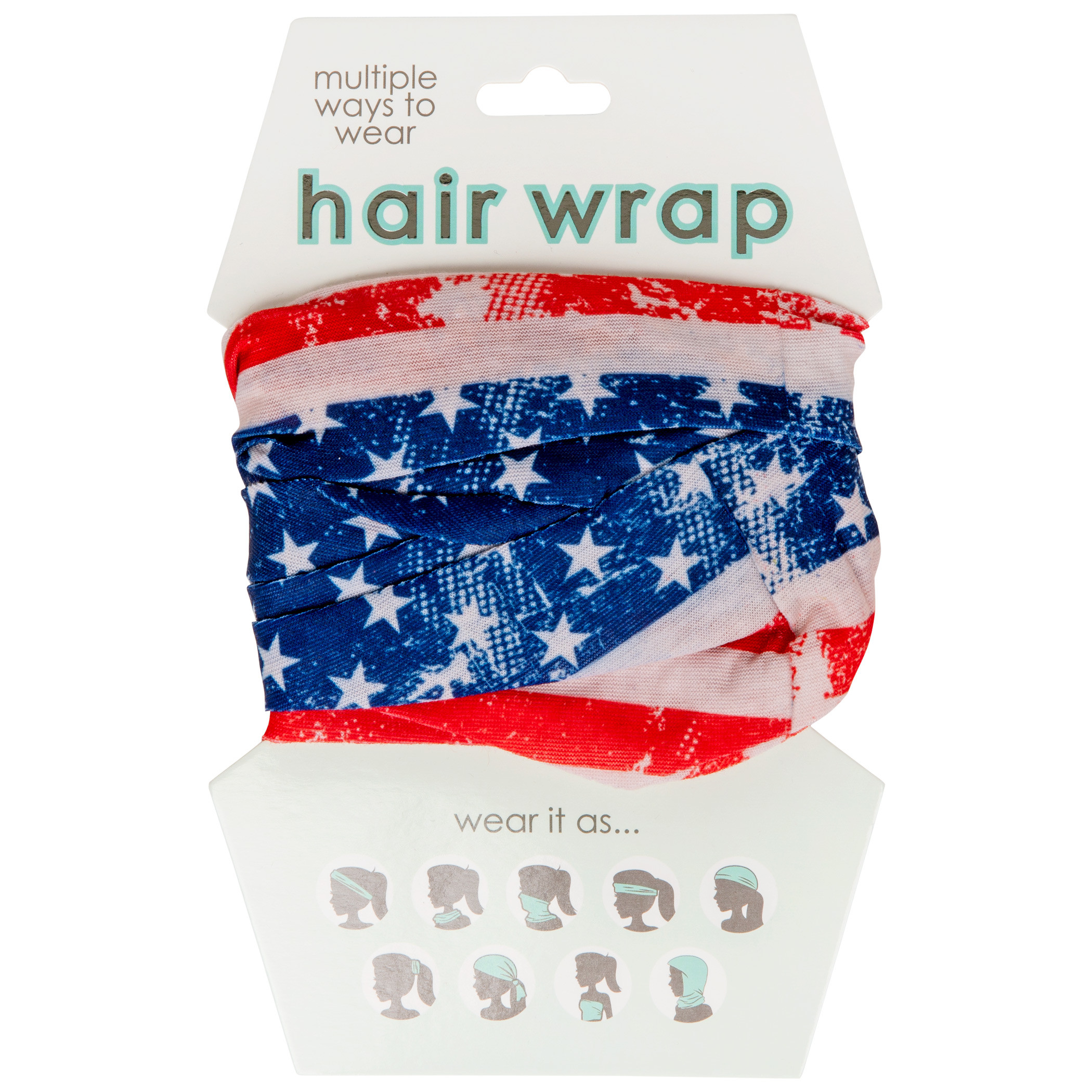 American Flag Face Mask and Hair Wrap