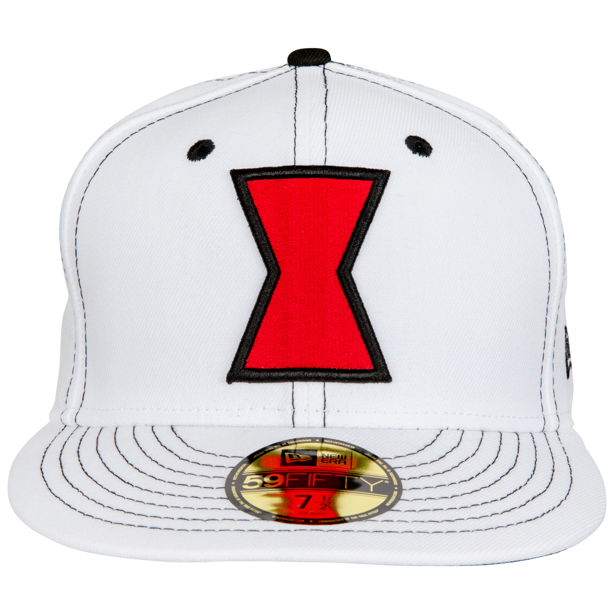 Black Widow Movie White Costume New Era 59Fifty Fitted Hat