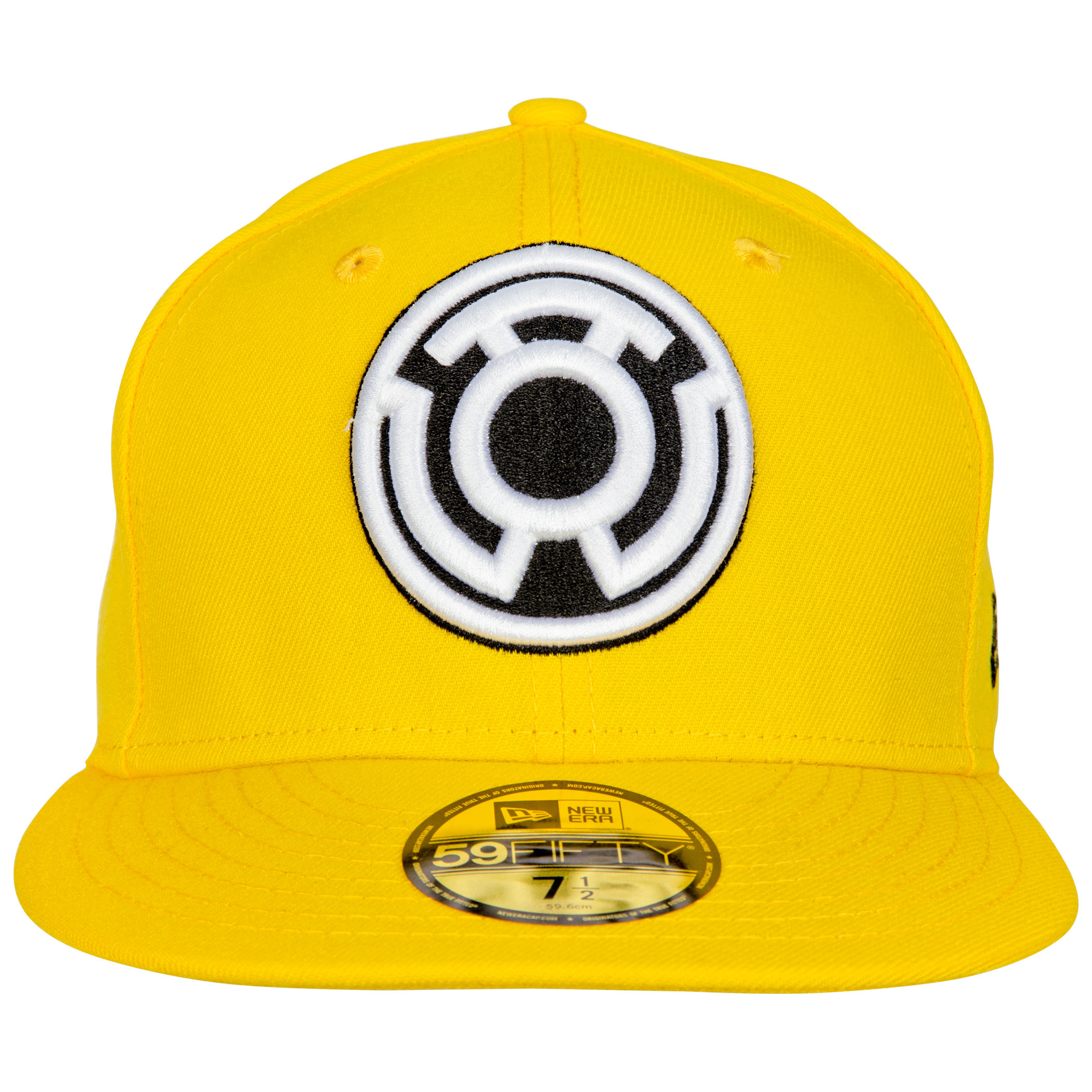 Yellow Lantern Sinestro Corp Color Block New Era 59Fifty Fitted Hat