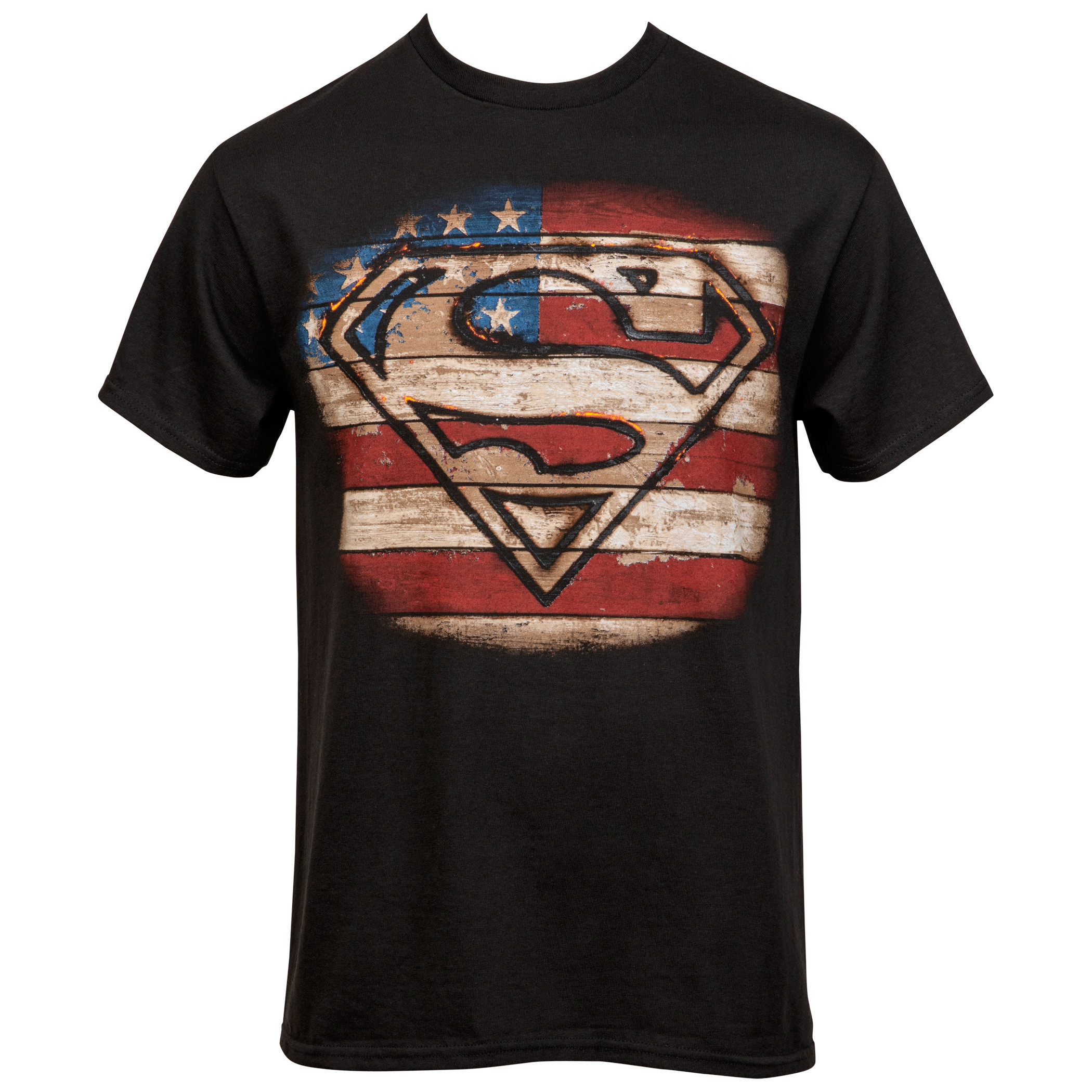 Superman Burned Wood Symbol T-Shirt