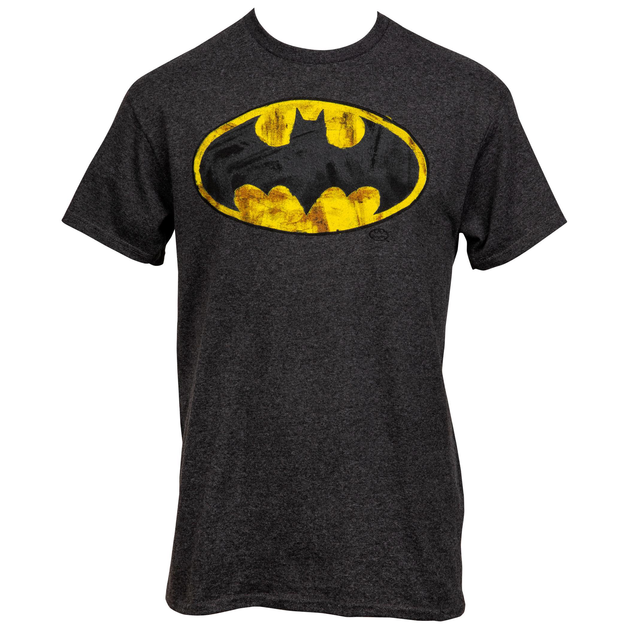 Batman Very Distressed Classic Logo T-Shirt