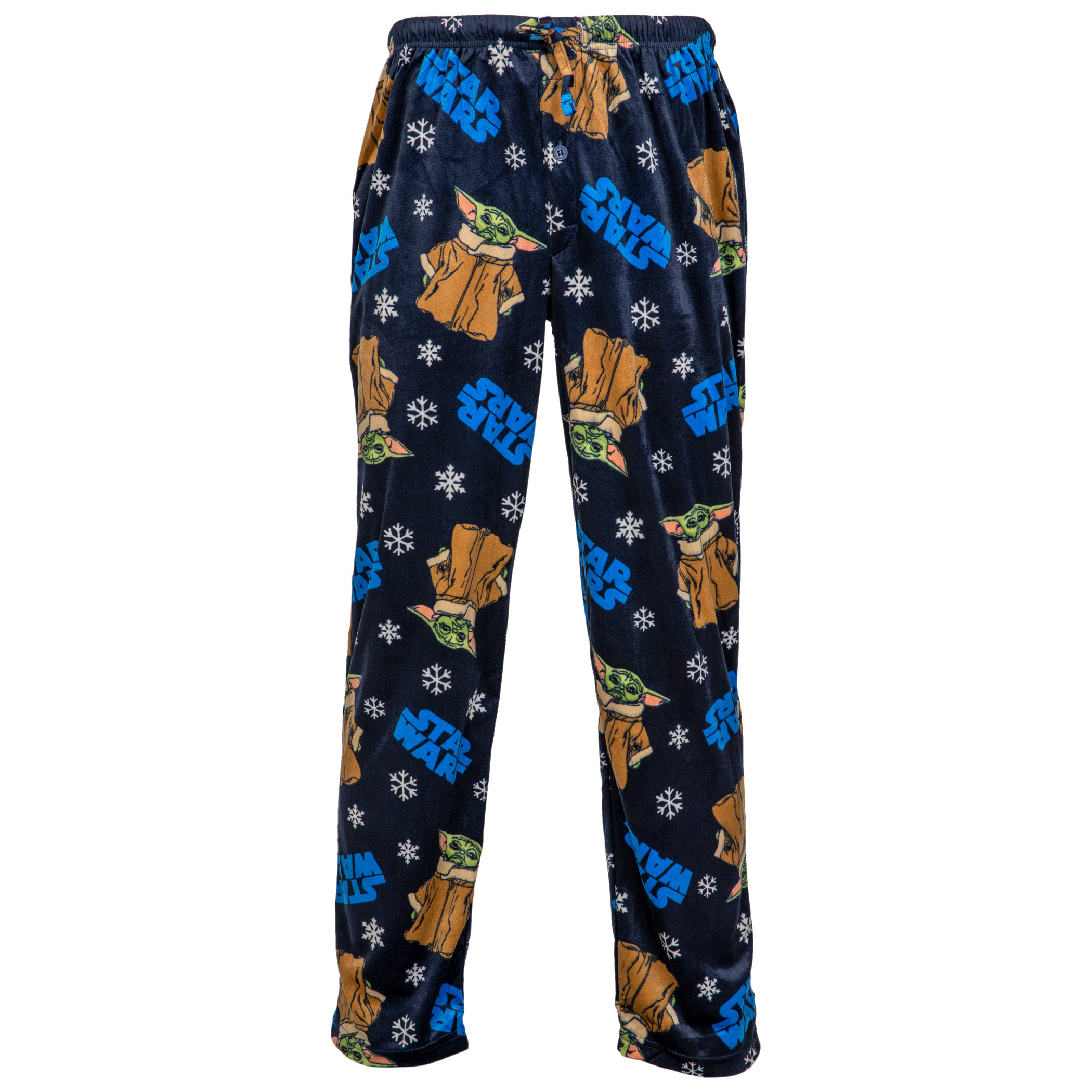 Star Wars The Child from The Mandalorian & Snowflakes Sueded Fleece Sleep Pants