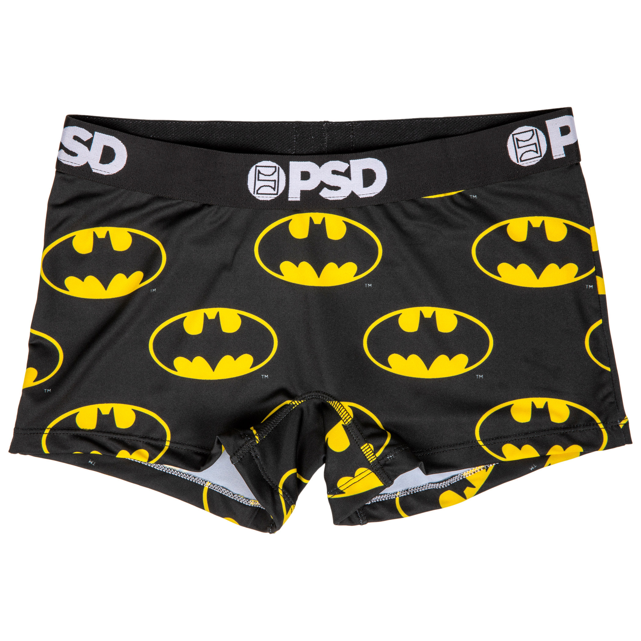 DC Batman Symbol Microfiber Blend Boy Shorts Underwear
