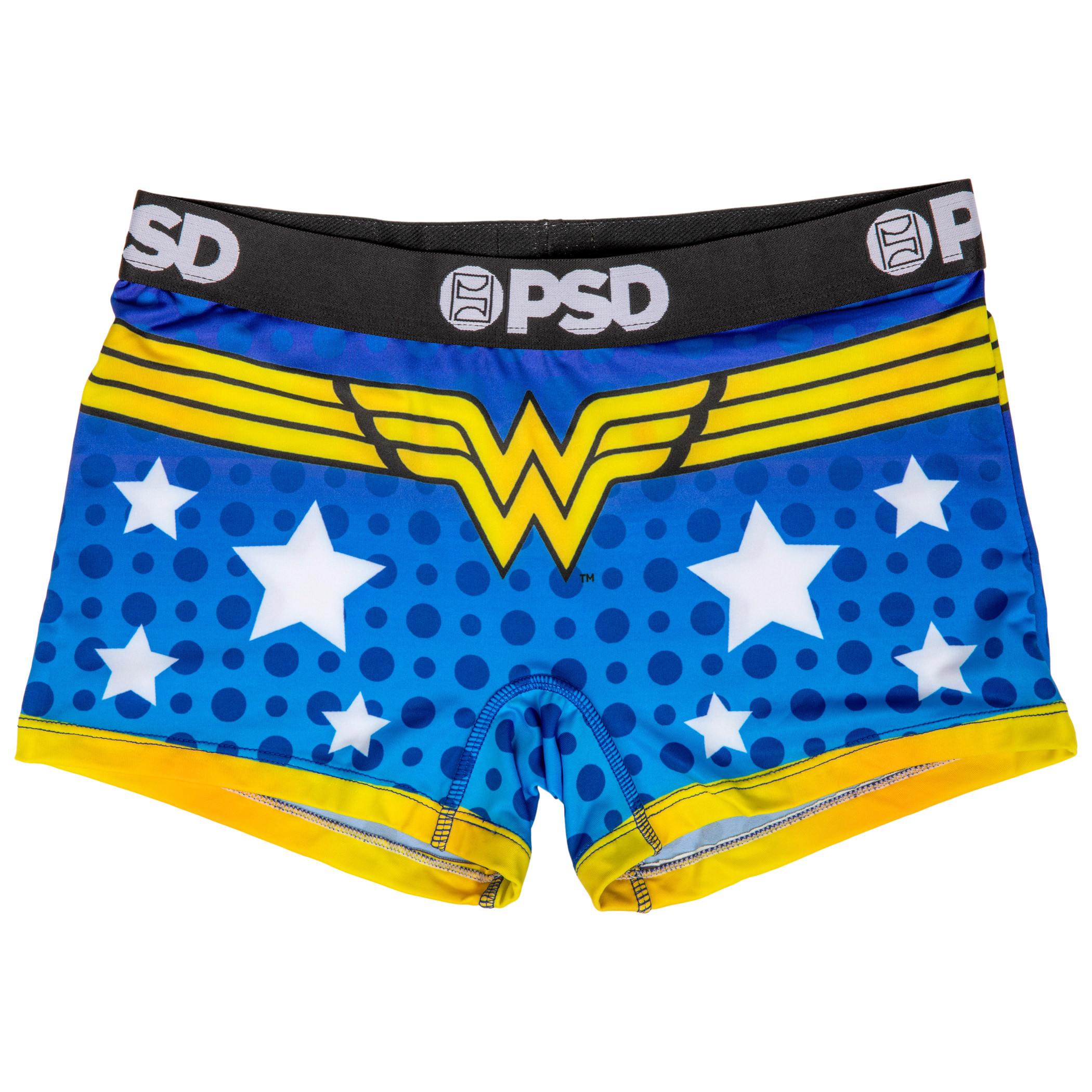 DC Wonder Woman Symbol Microfiber Blend Boy Shorts Underwear