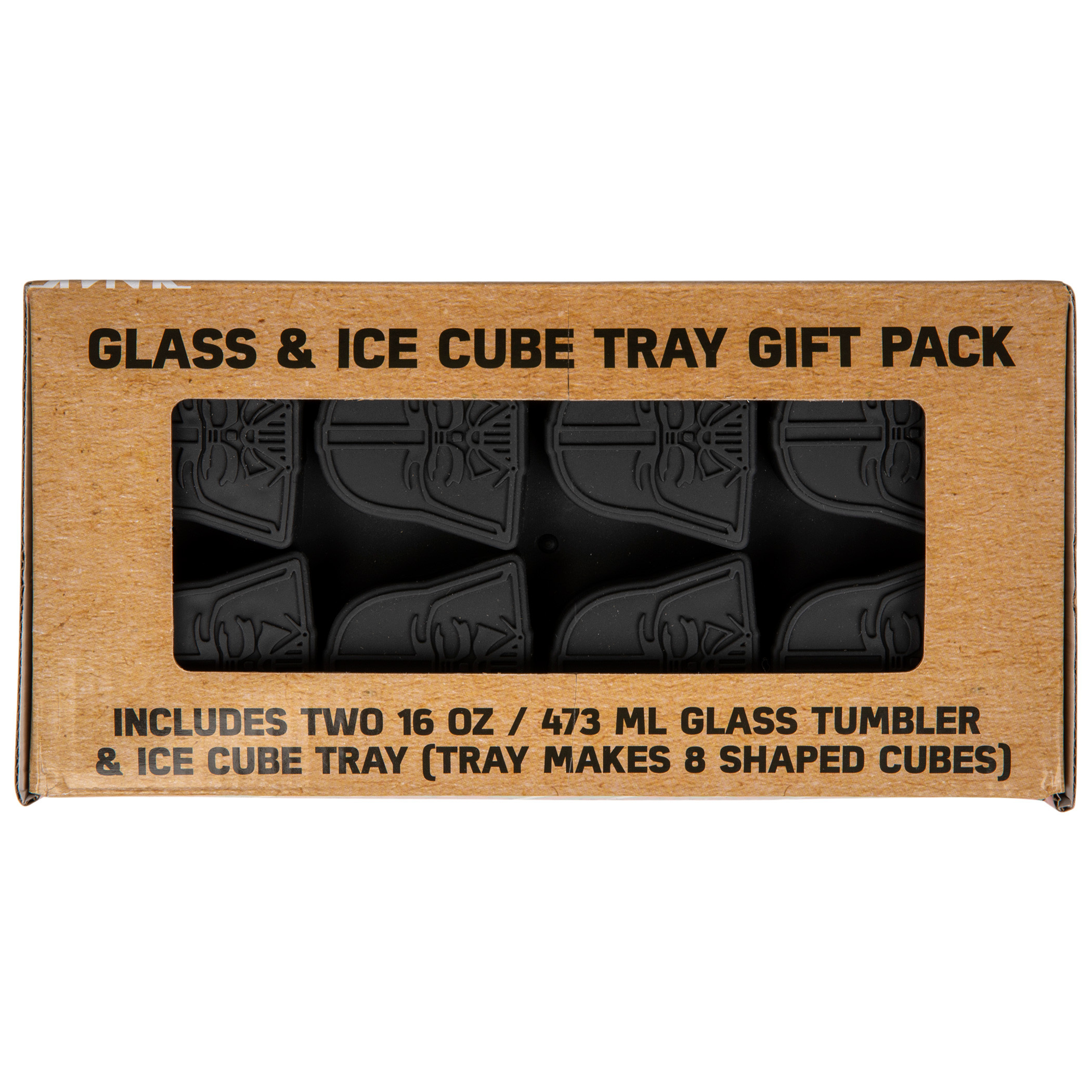 Darth Vader Holiday 2-Piece Pub Glass and Ice Tray Gift Pack