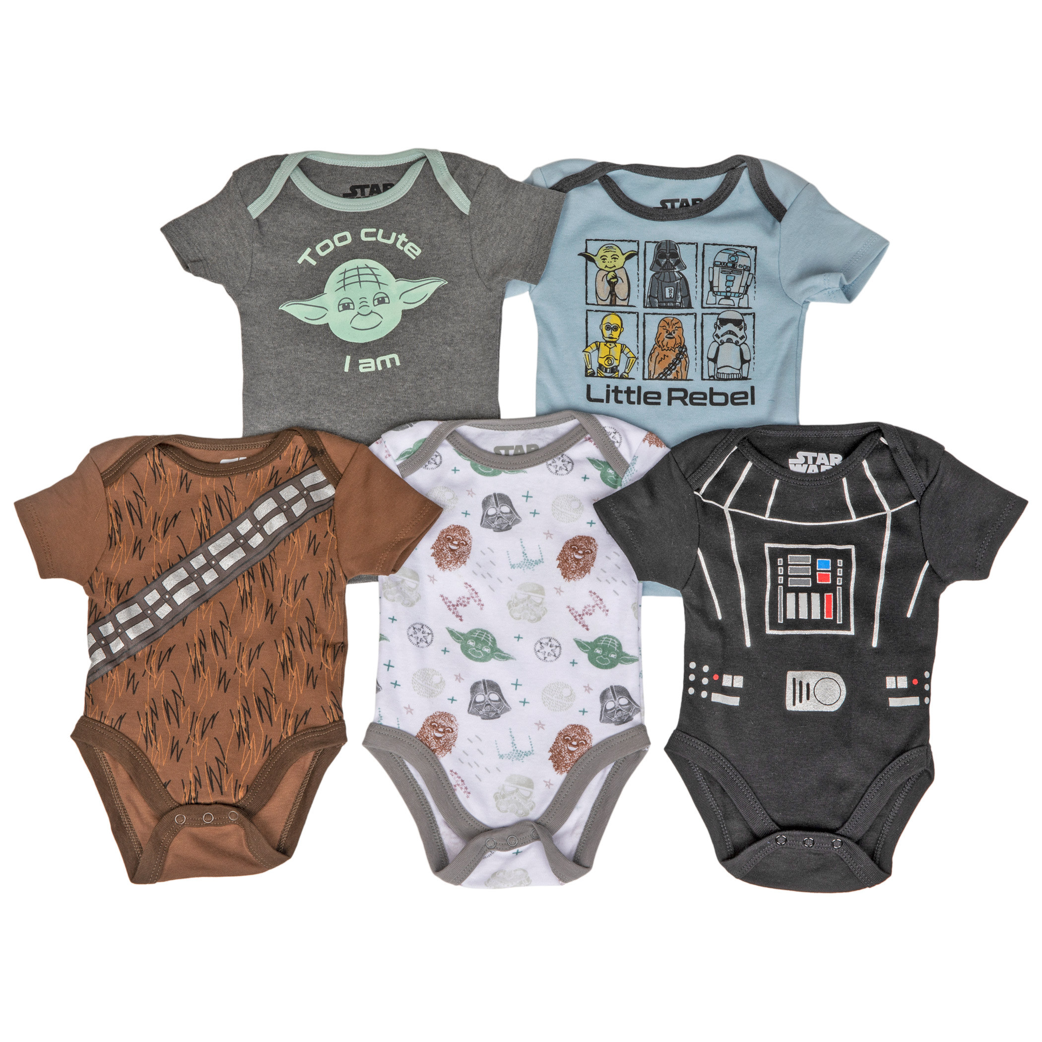 Star Wars 5-Piece Infant Snapsuit Set