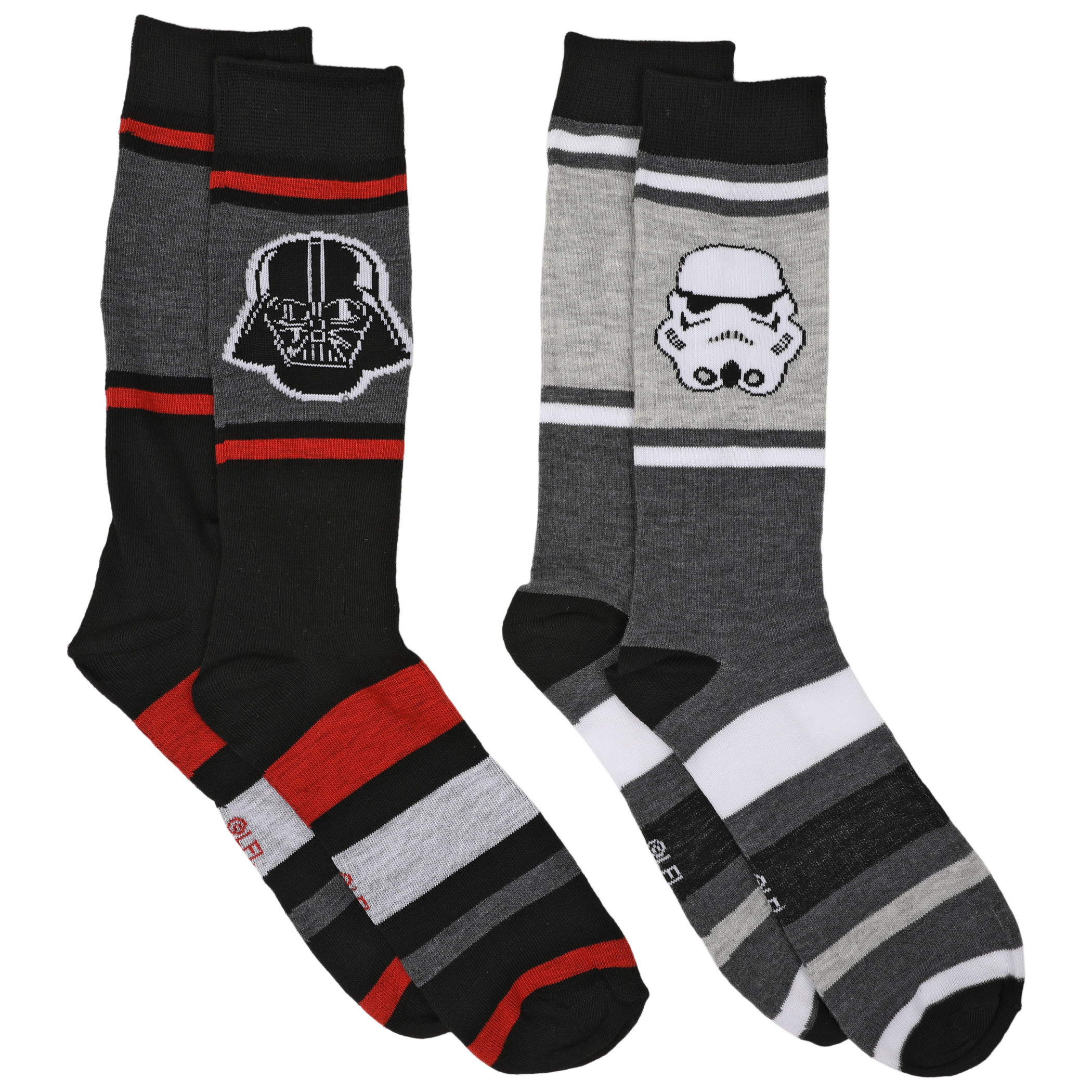 Star Wars Darth Vader and Stormtrooper 2-Pair Pack of Casual Crew Socks