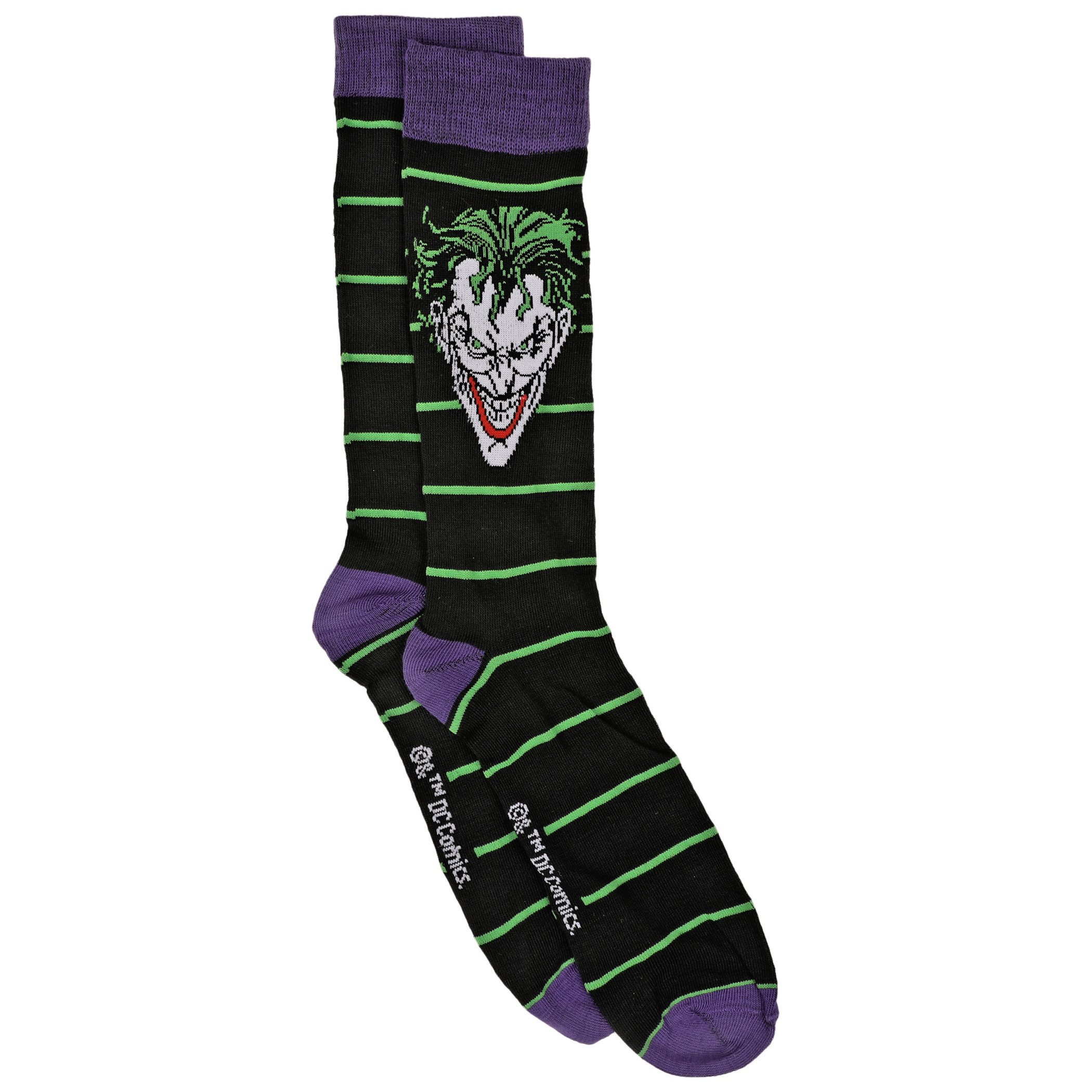 DC Villains The Joker 2-Pair Pack of Casual Crew Socks