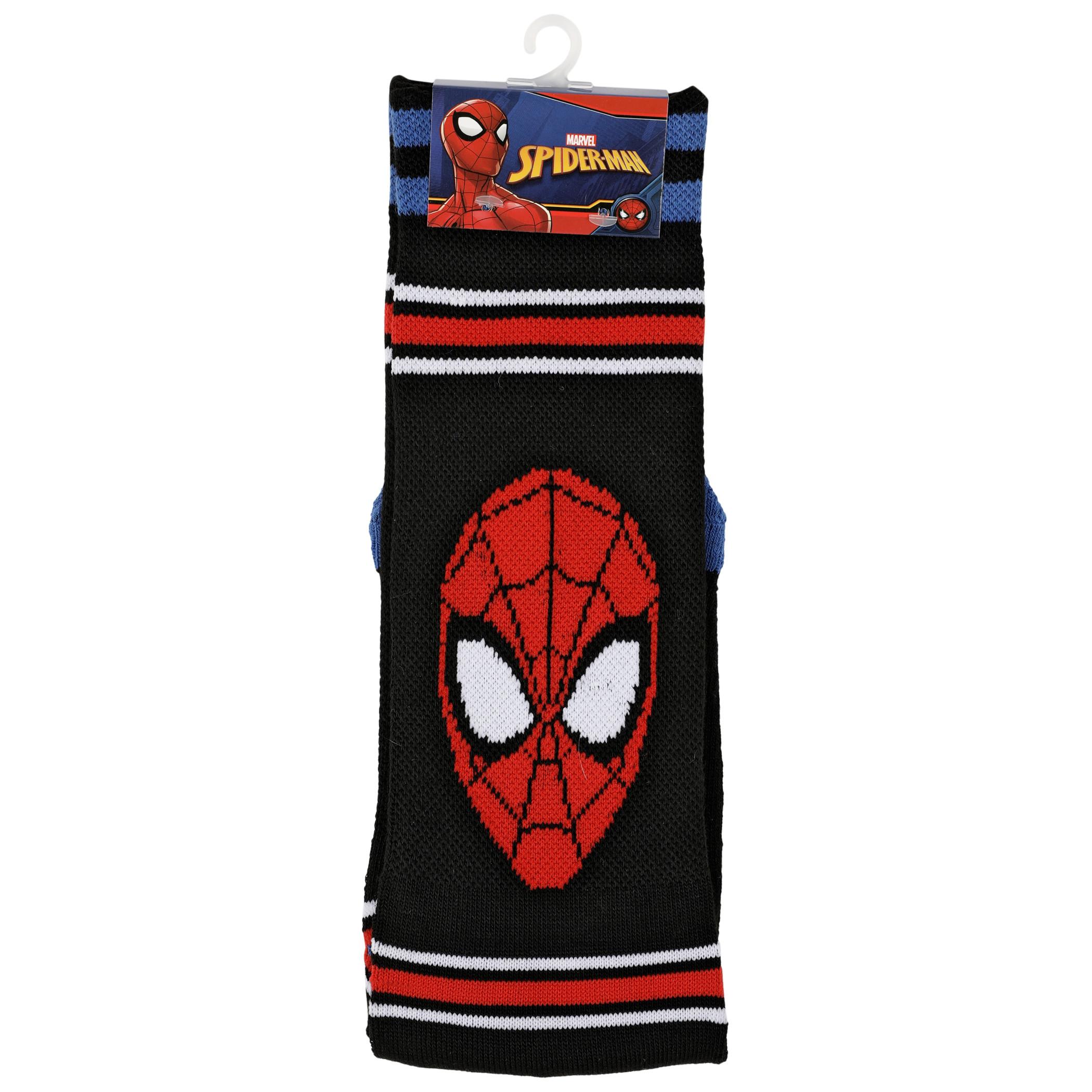 Spider-Man Face Waffle Cushion Crew Socks