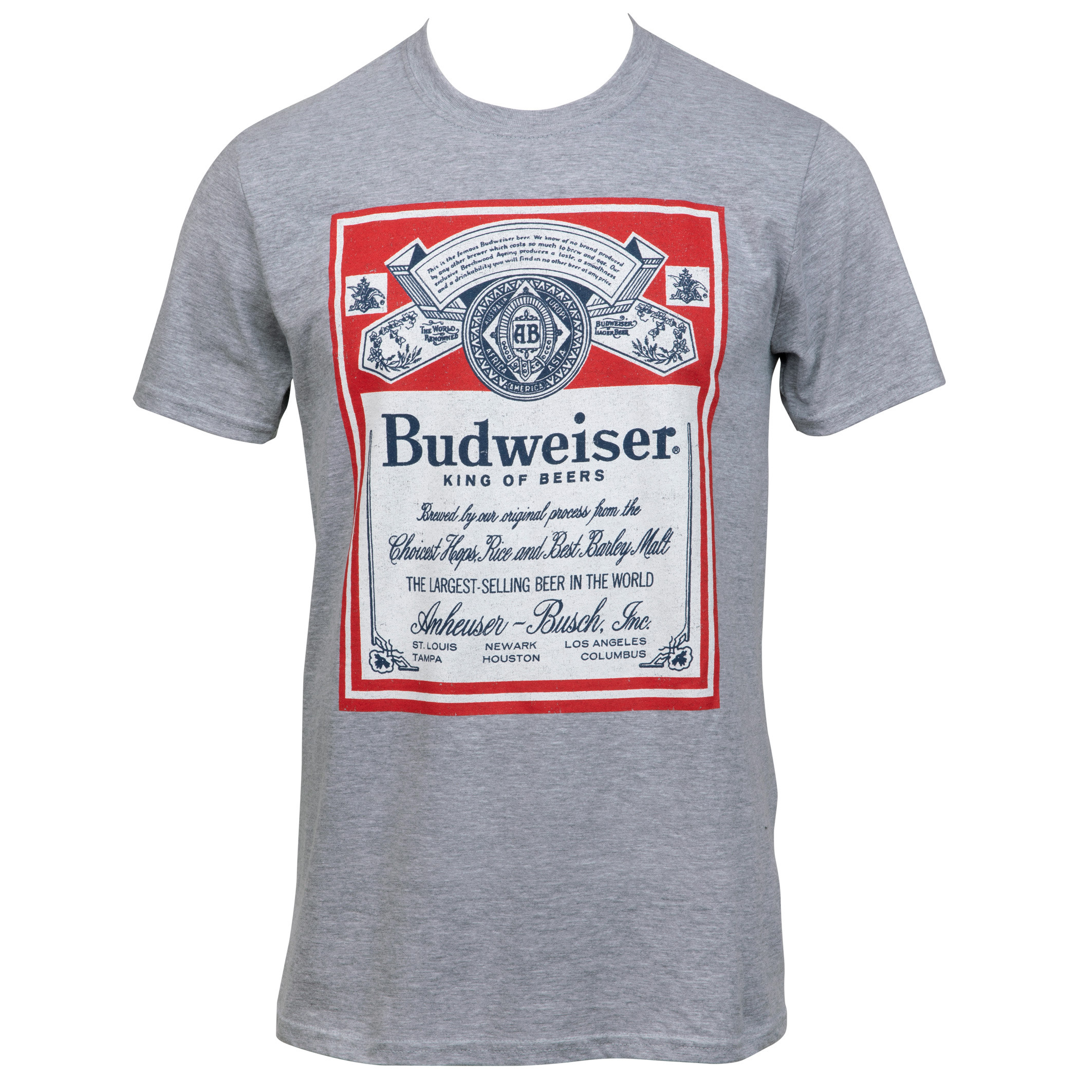 Budweiser King of Beers Label T-Shirt