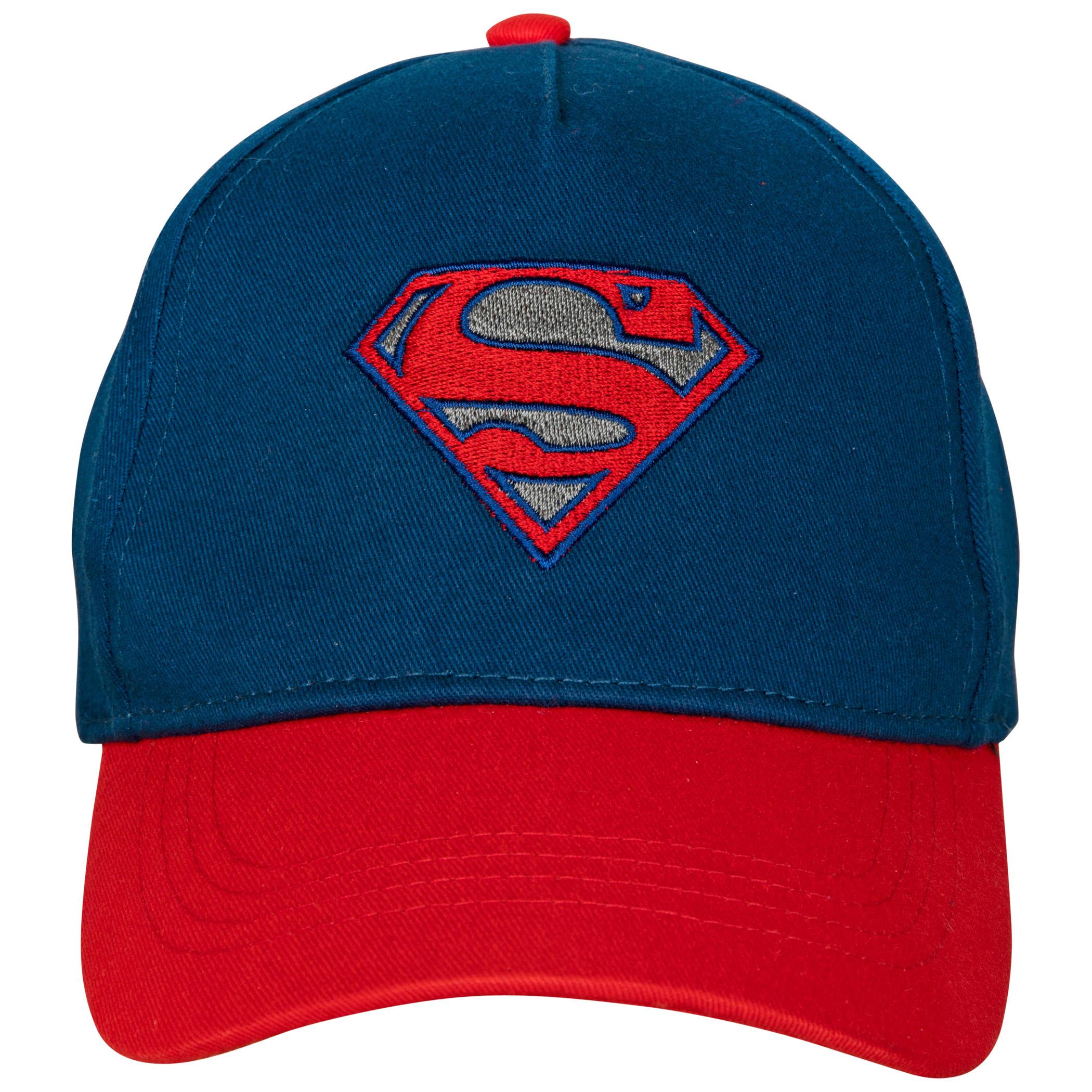 Superman Reflective Curved Brim Adjustable Hat