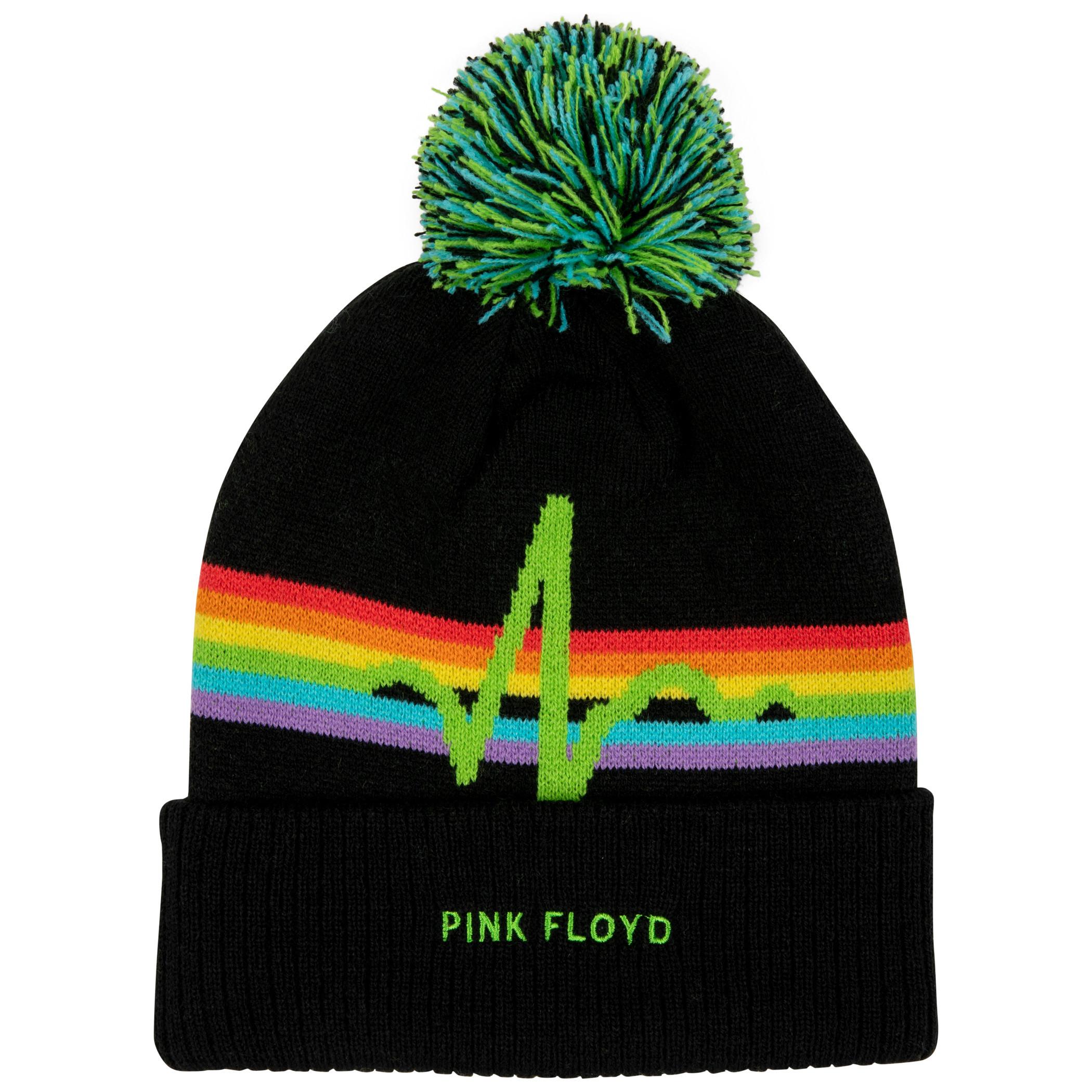 Pink Floyd Cuff Pom Knit Beanie