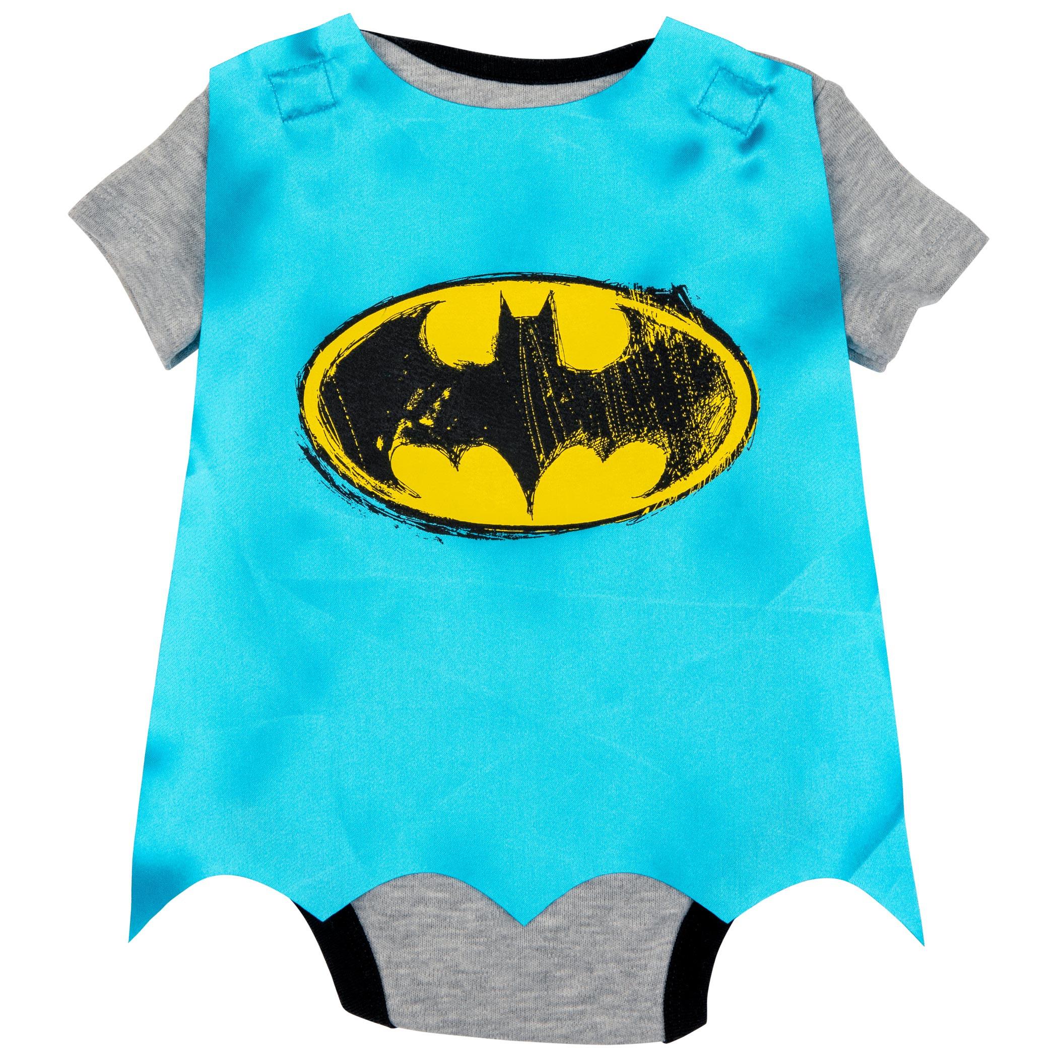 Batman Logo Snapsuit With Cape