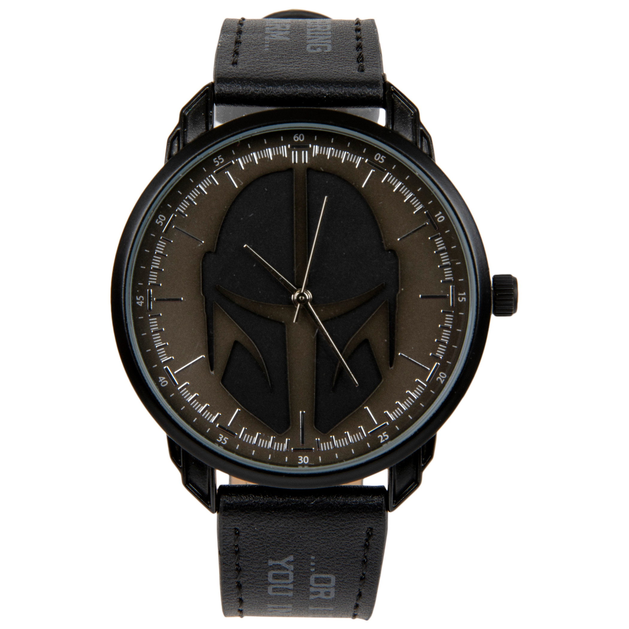 Star Wars The Mandalorian Helmet Symbol Watch