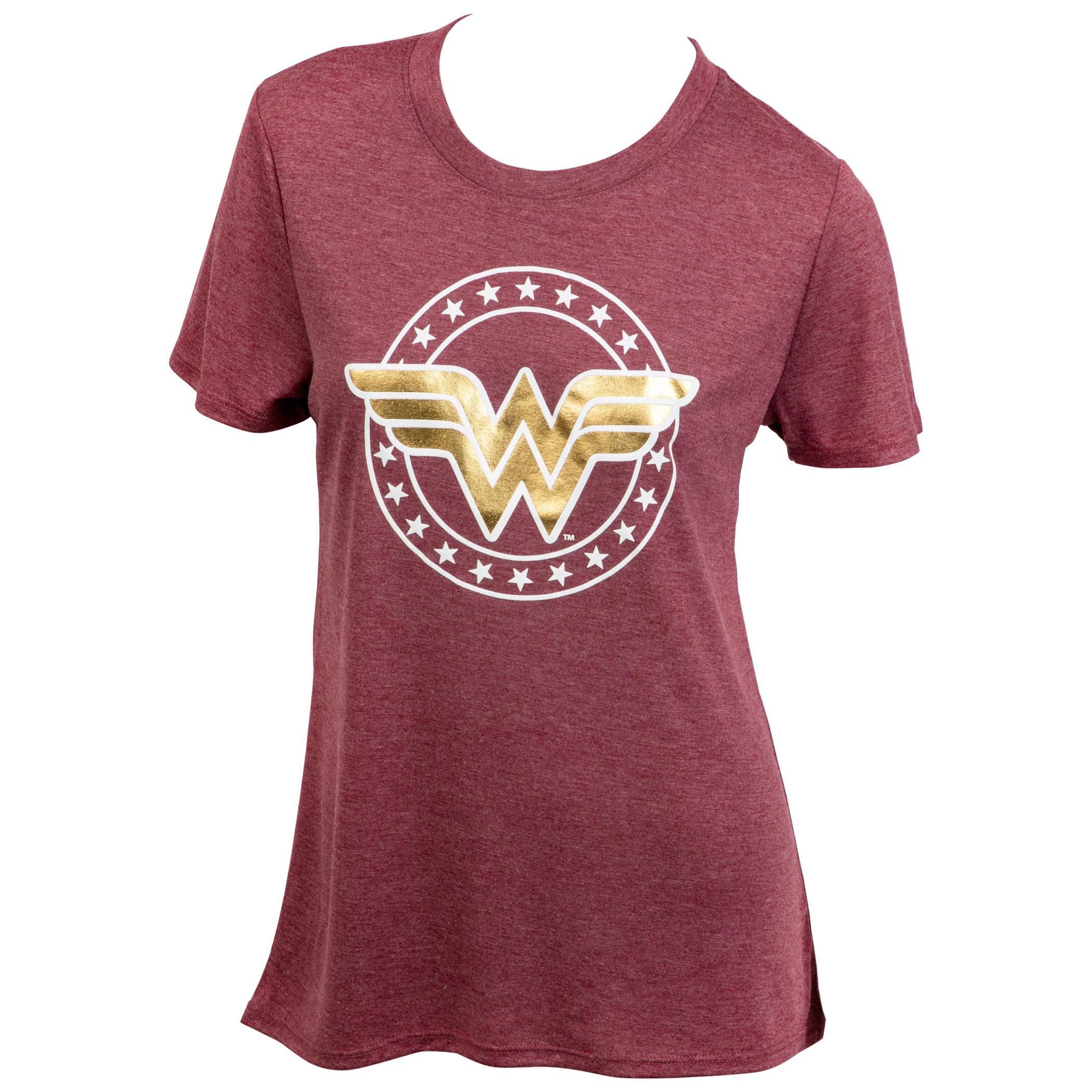 Wonder Woman Gold Classic Symbol Women's T-Shirt