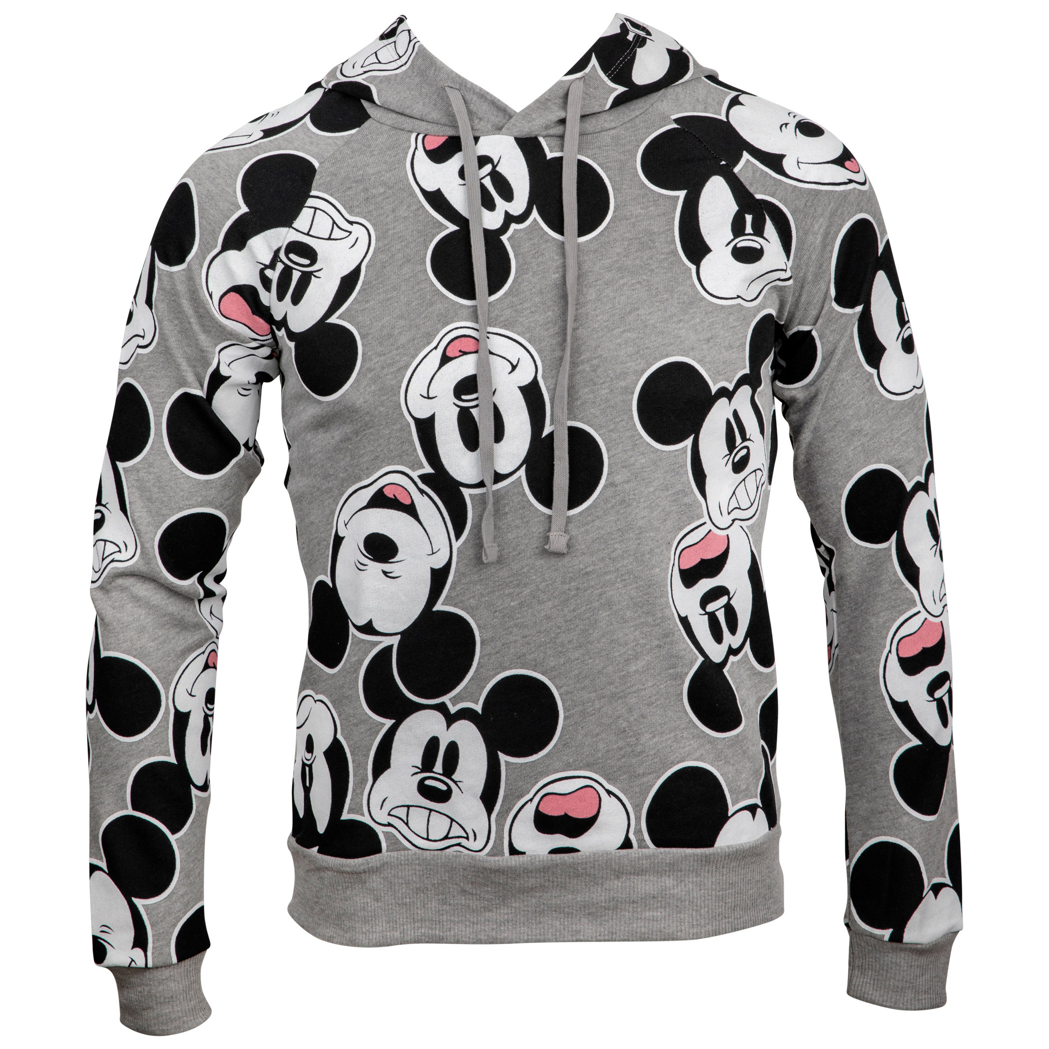 Disney Mickey Mouse Heads All Over Print Women's Fitted Hoodie
