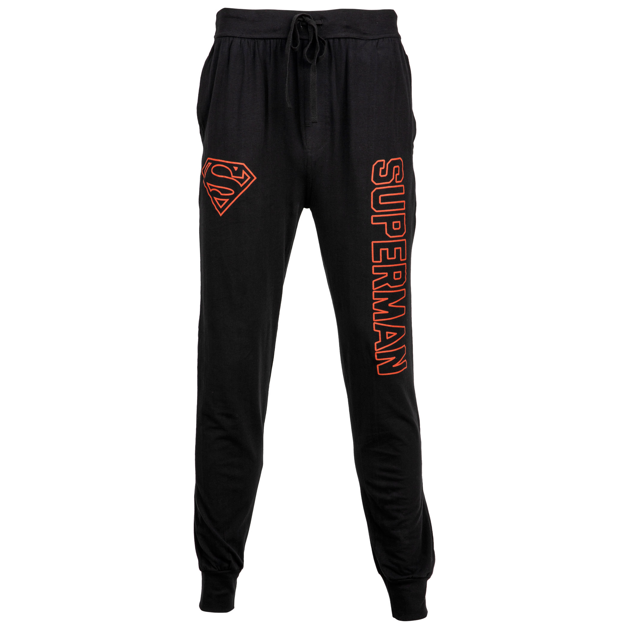 Superman Red Text and Symbol Joggers