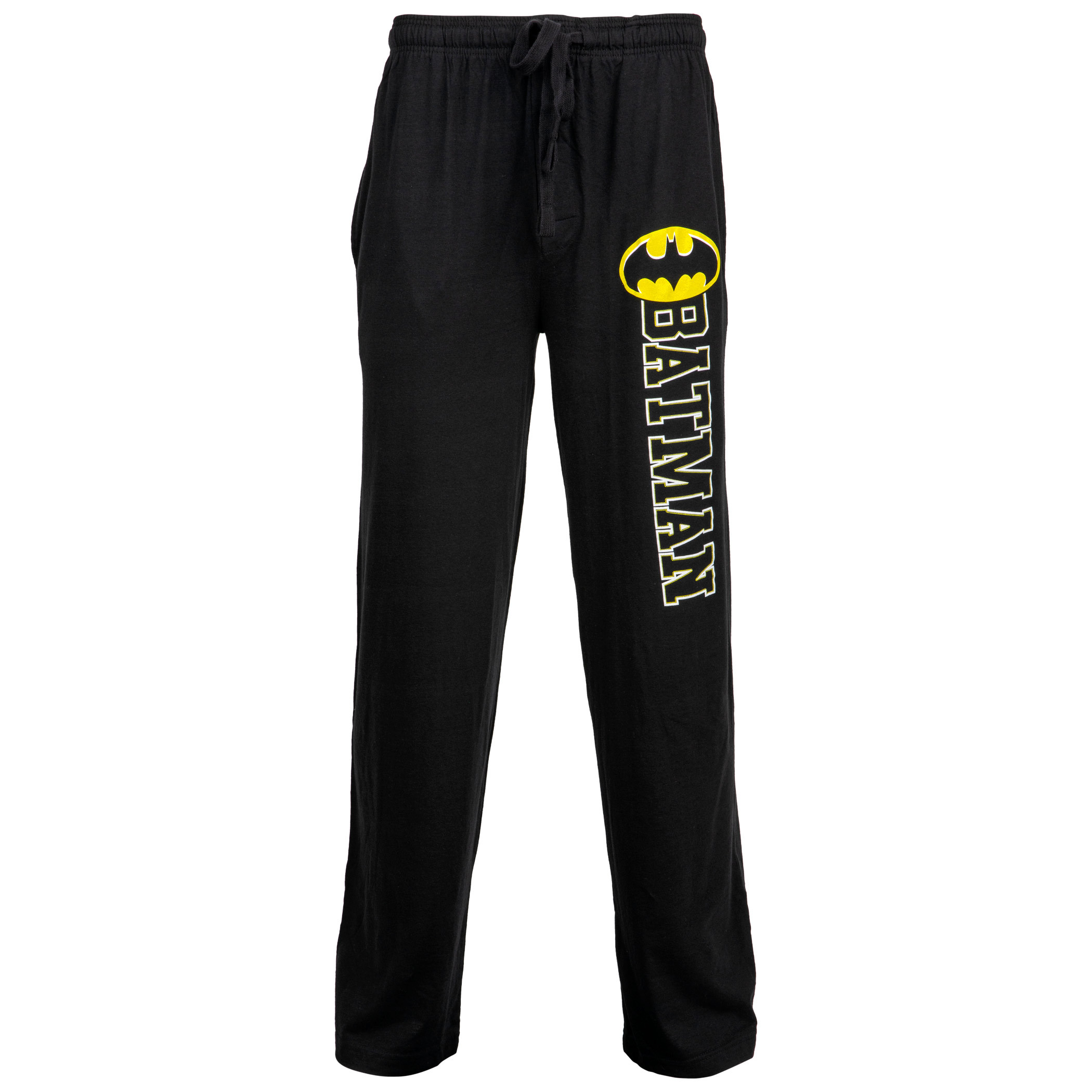 Batman Bold Symbol Over Text Outline Unisex Sleep Pants