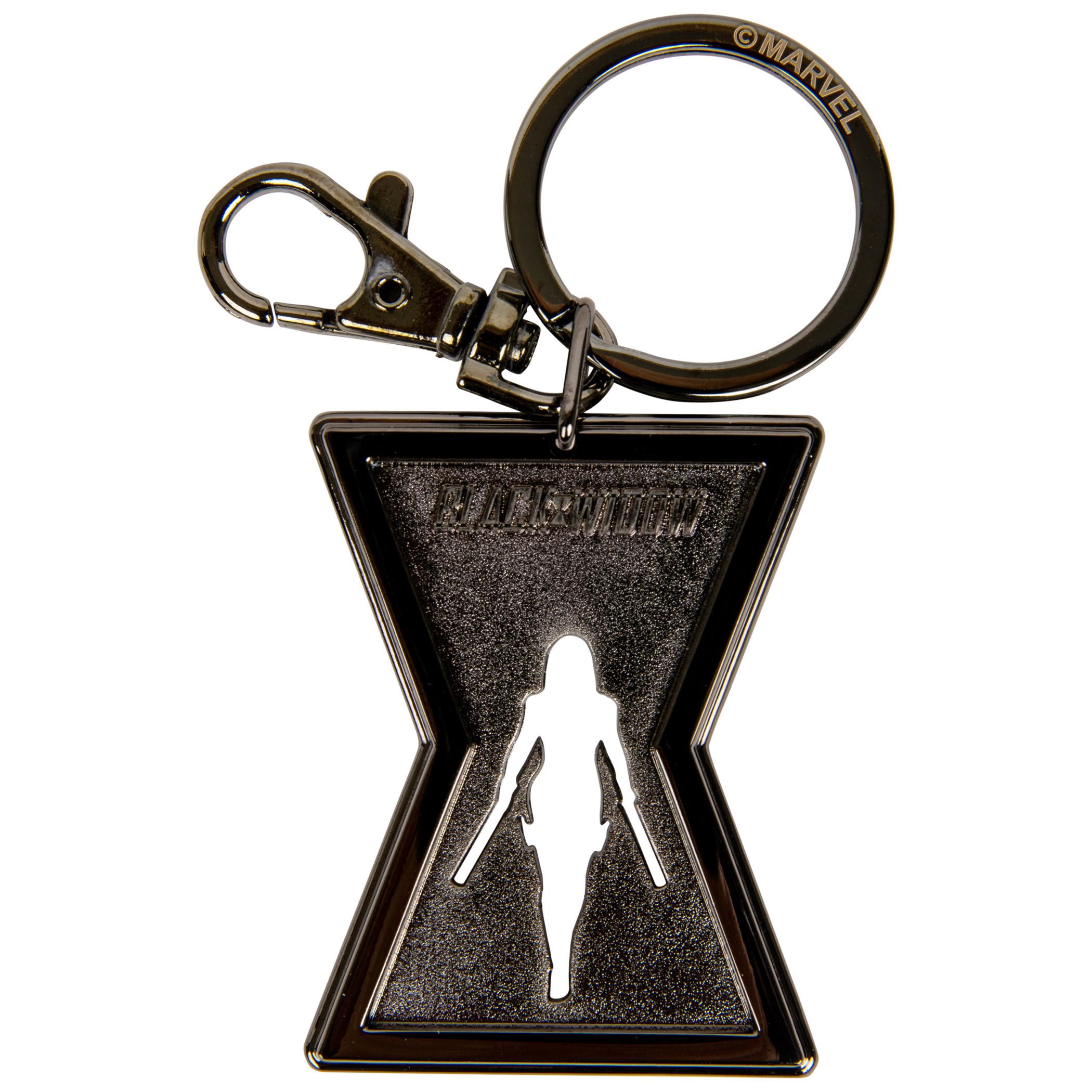 Black Widow Movie Symbol Pewter Keychain