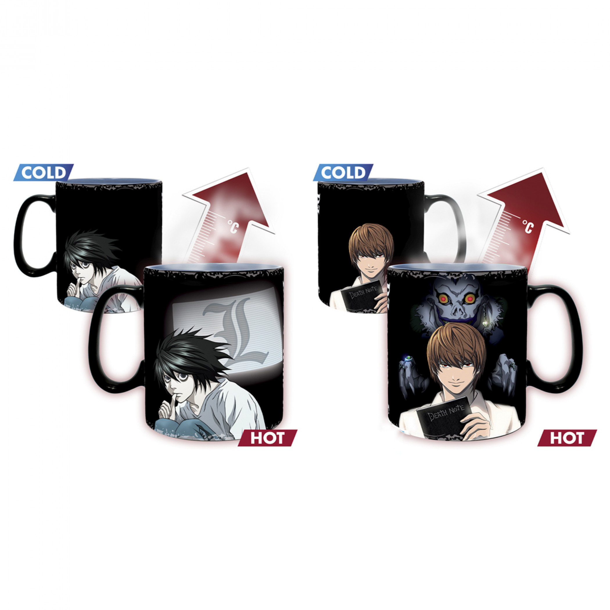 Death Note Kira & L Magic Mug