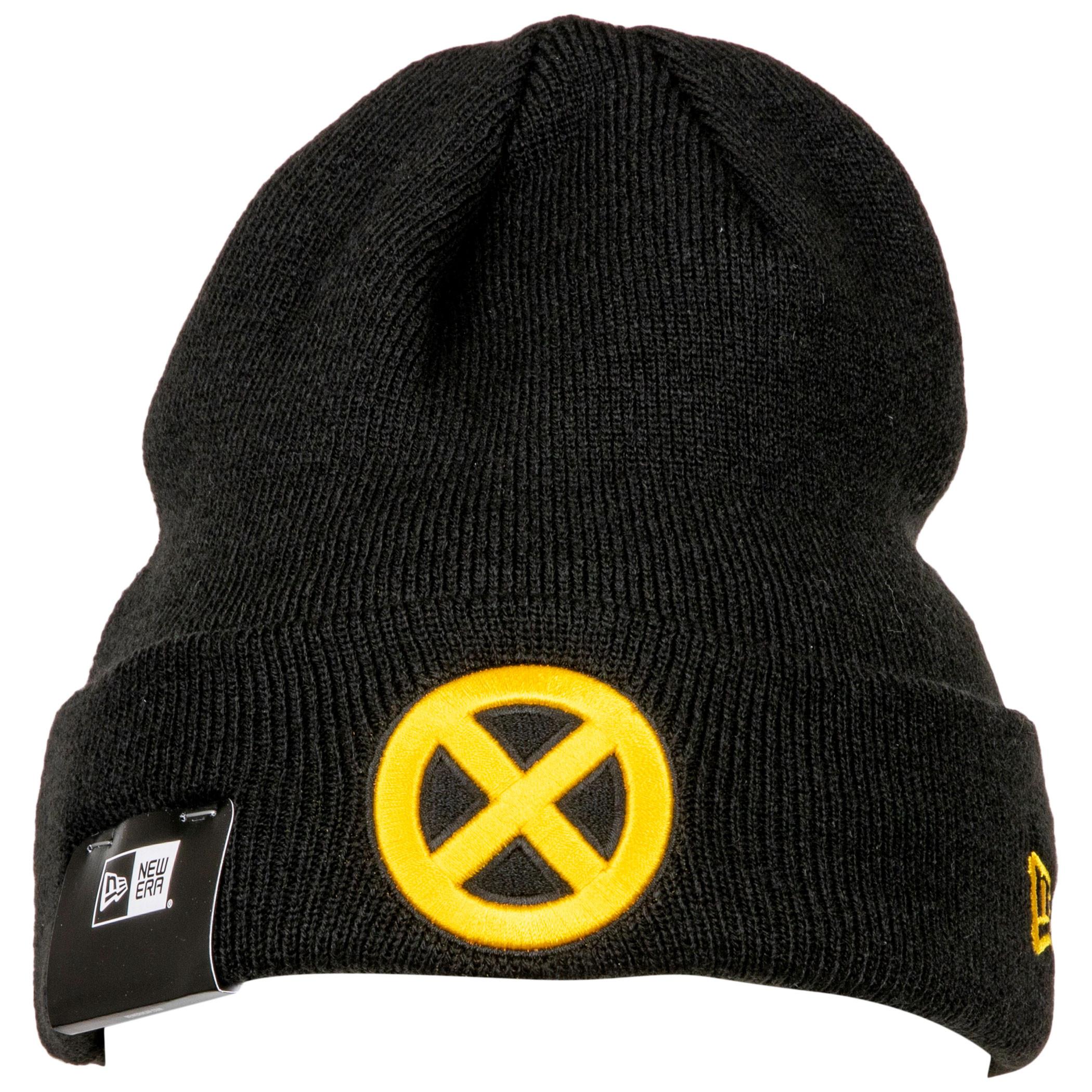 X-Men Yellow Symbol Cuff Knit New Era Beanie
