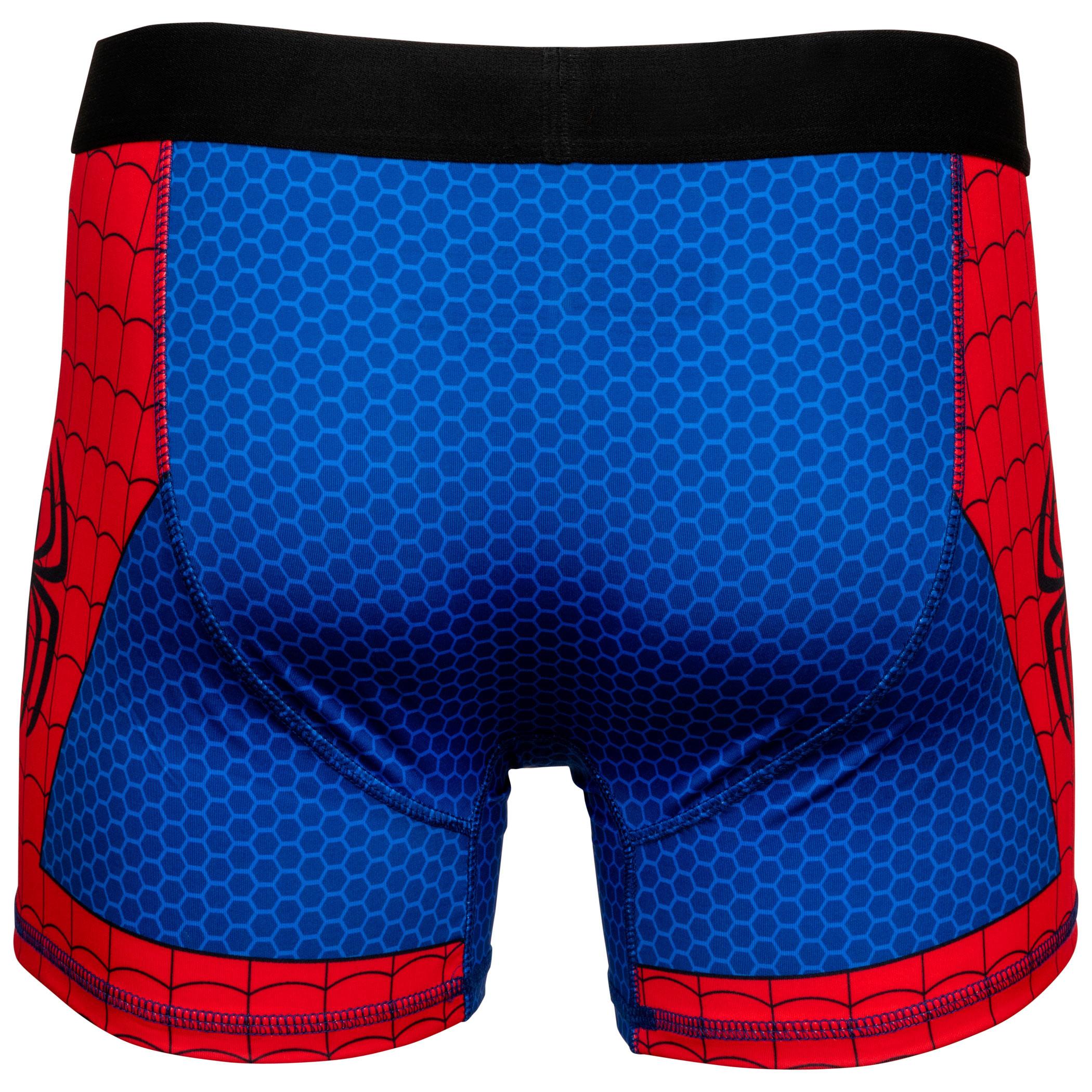Spider-Man Costume Suit Men's Underwear Boxer Briefs