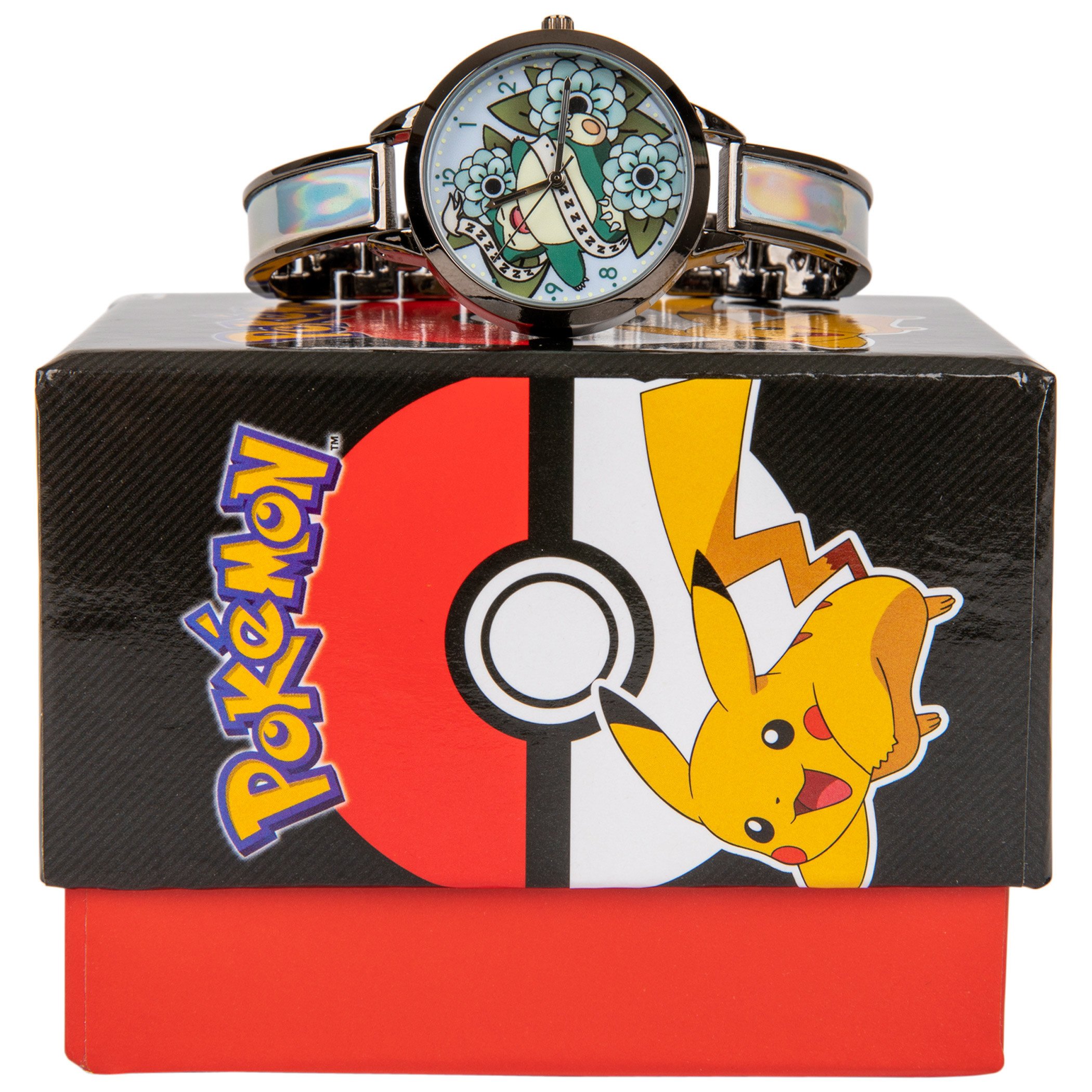 Pokemon Snorlax in Flowers with Holographic Wristband Watch