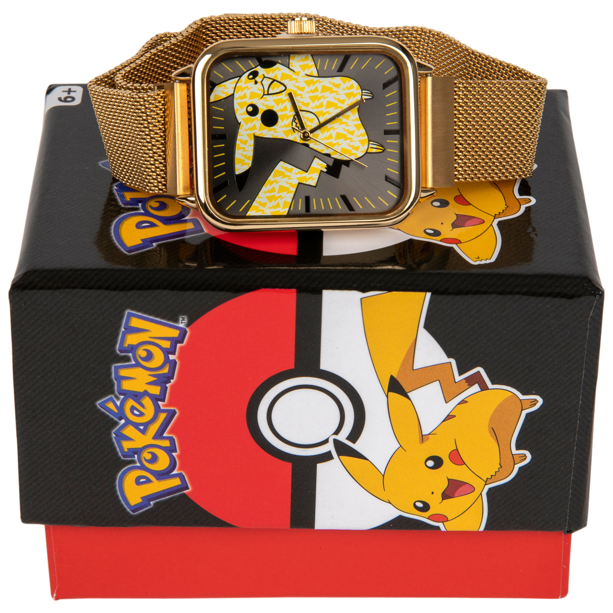 Pokemon Pikachu Jumping with Chain Metal Band Watch