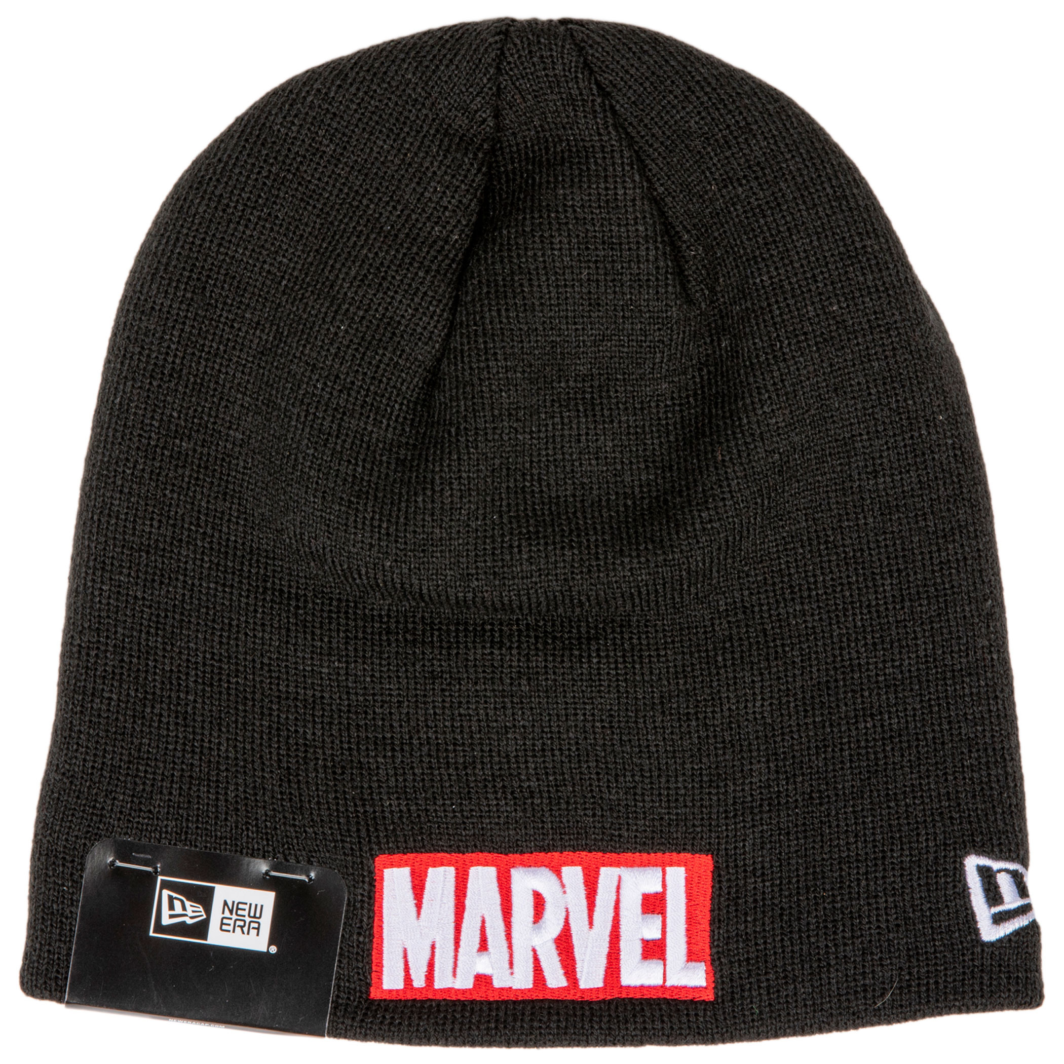 Marvel Brand Red Text Logo Knit New Era Beanie