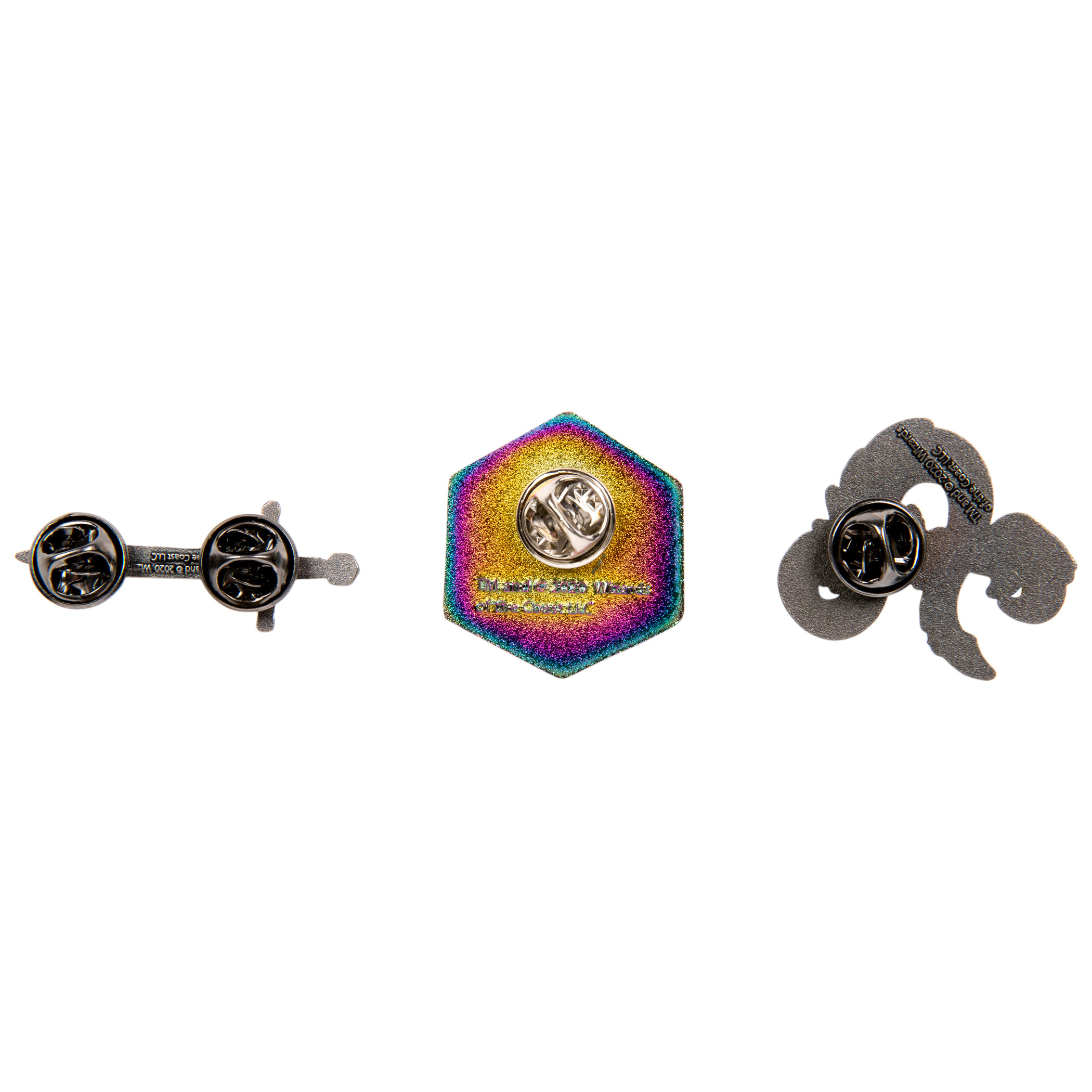 Dungeons & Dragons Logo D20 Sword Set of 3 Lapel Pins