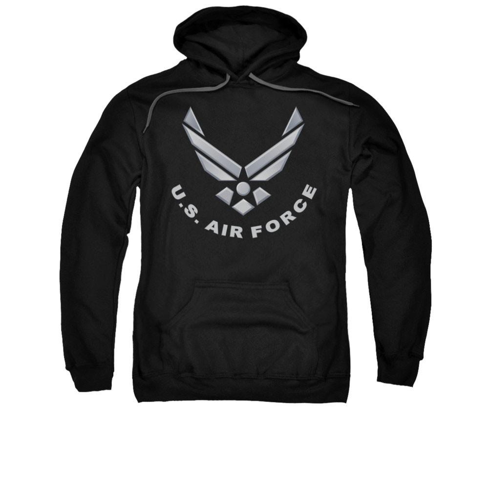 US Air Force Logo Black Pullover Hoodie