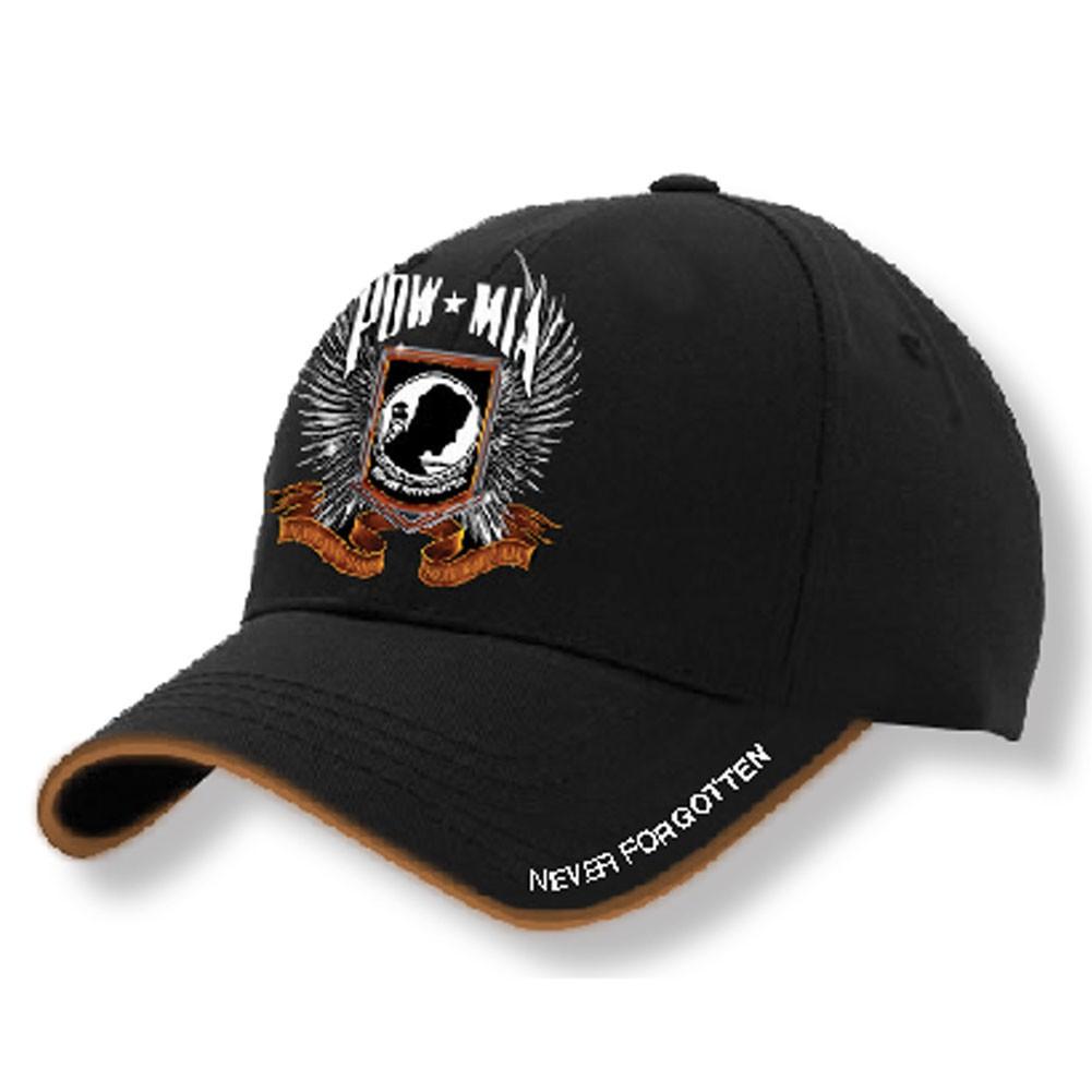 POW MIA Black Baseball Hat