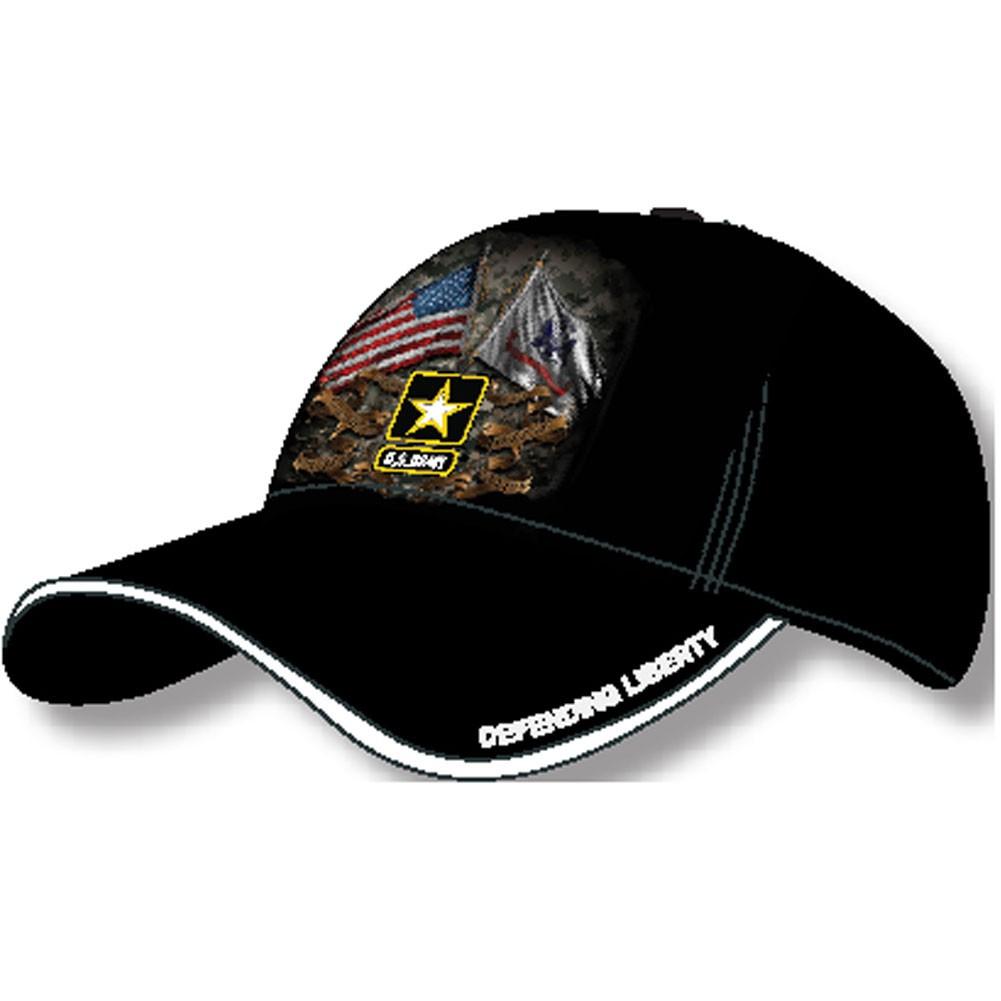 US Army Flags Black Baseball Hat