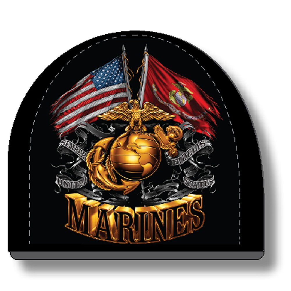 USMC Marines Flags Black Hat Beanie