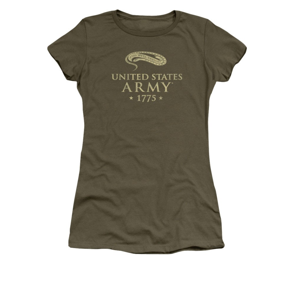 US Army We'll Defend Green Juniors T-Shirt