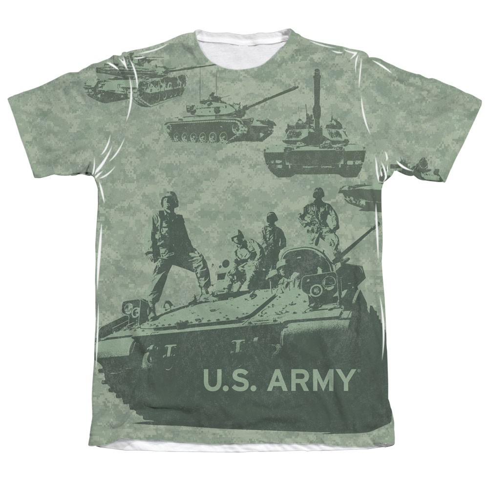 US Army Tank Up Green Sublimation T-Shirt