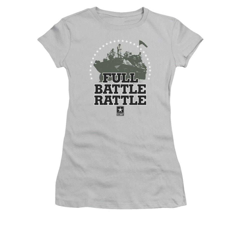 US Army Full Battle Rattle Gray Juniors T-Shirt