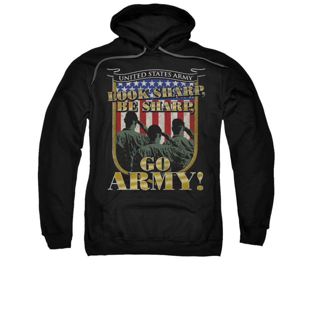 US Army Go Black Pullover Hoodie