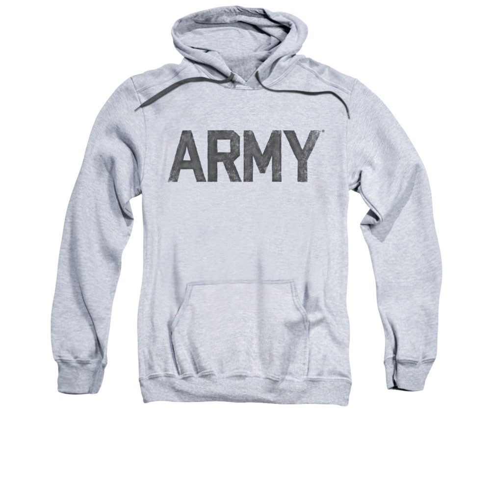 US Army Logo Gray Pullover Hoodie