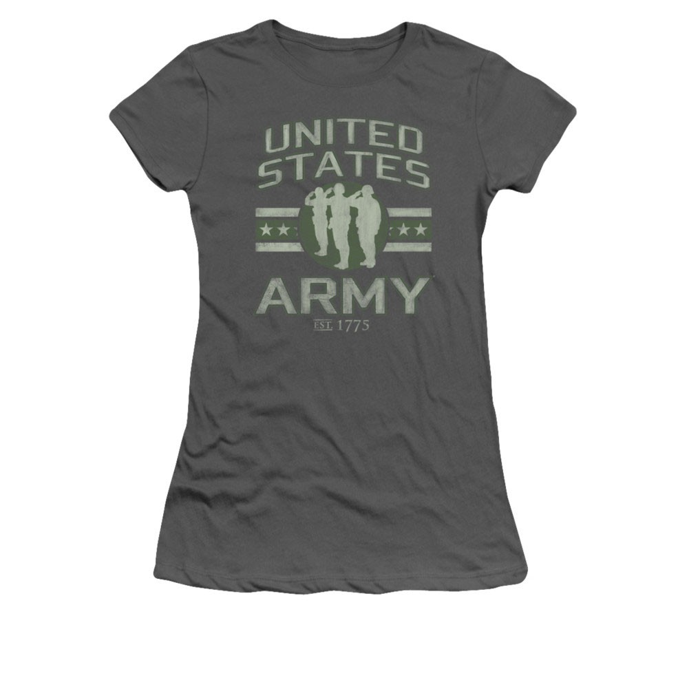 US Army Stars Gray Juniors T-Shirt