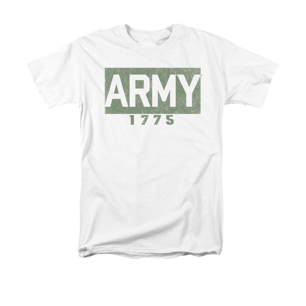 US Army 1775 Block White T-Shirt