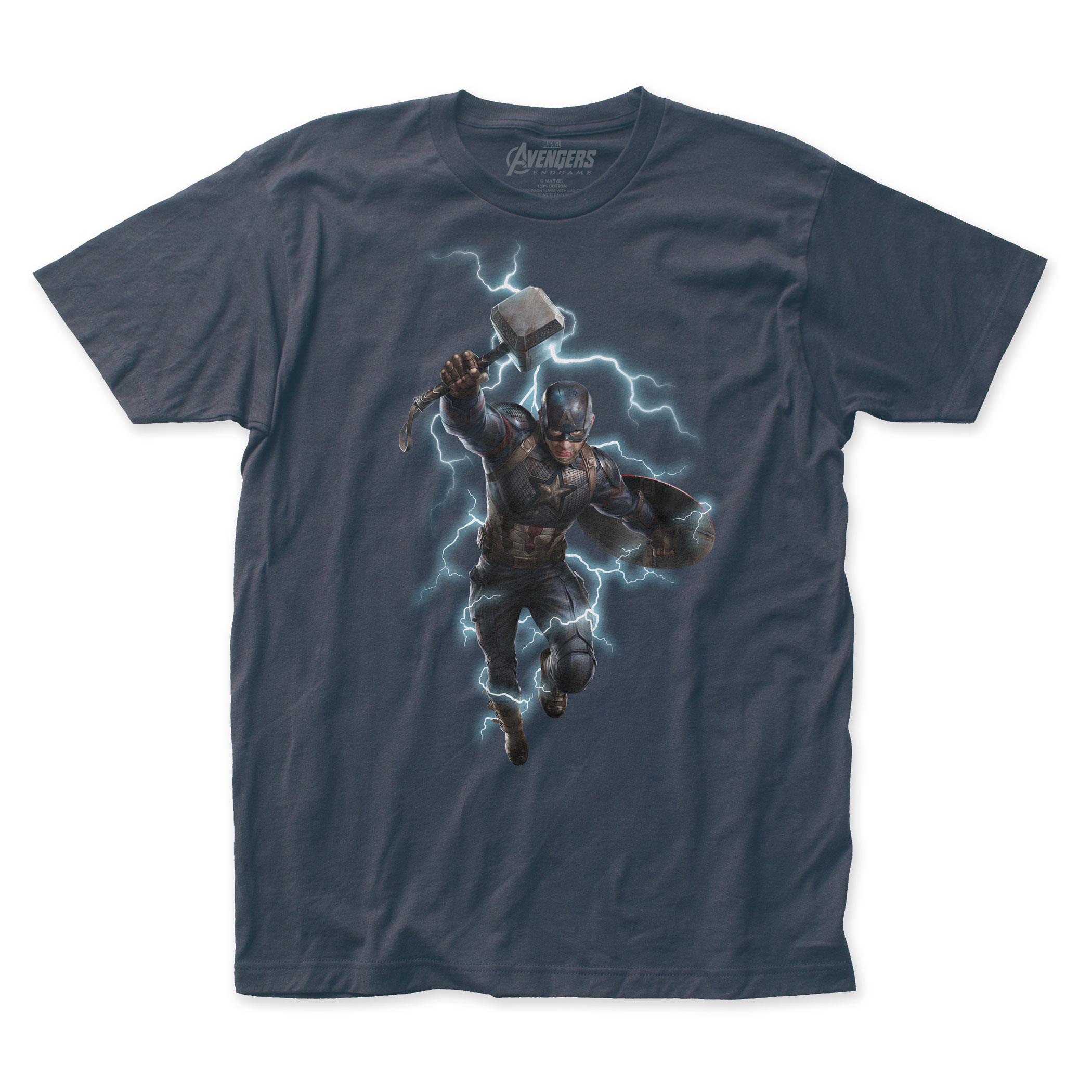 Captain America Wielding Mjolnir Avengers Endgame T-Shirt