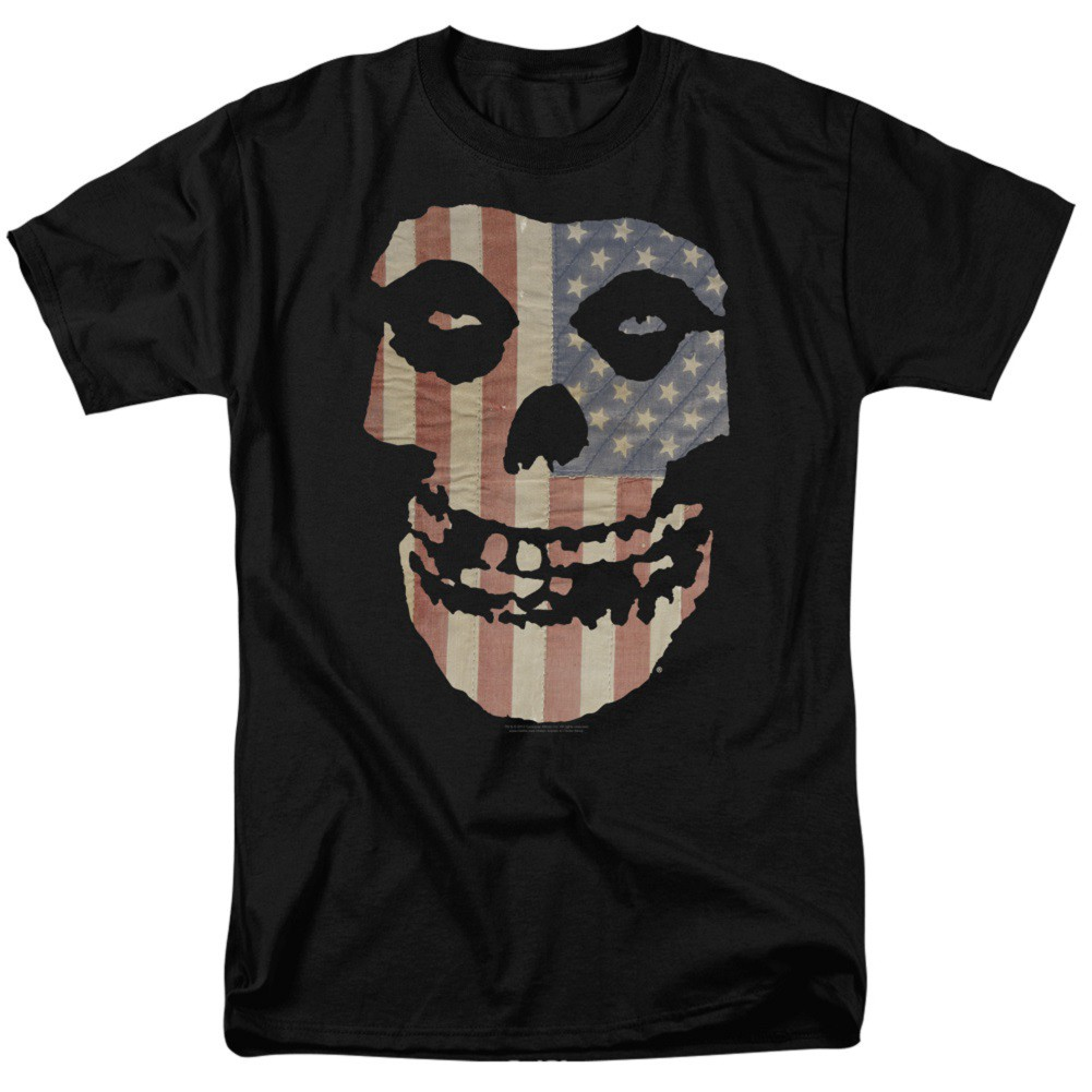 The Misfits American Flag Logo Tshirt