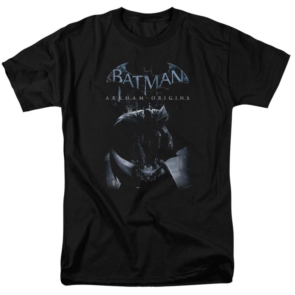 Batman Arkham Origins Poster Men's Black T-Shirt