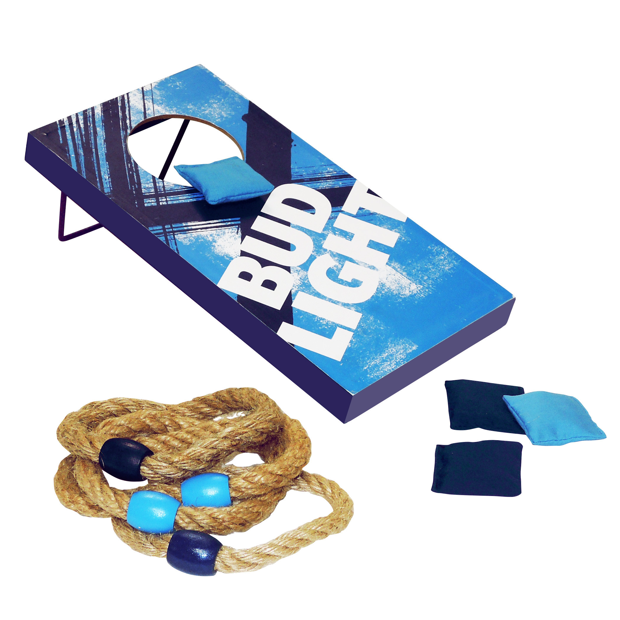 Bud Light Bean Bag And Ring Toss Outdoor Game Set