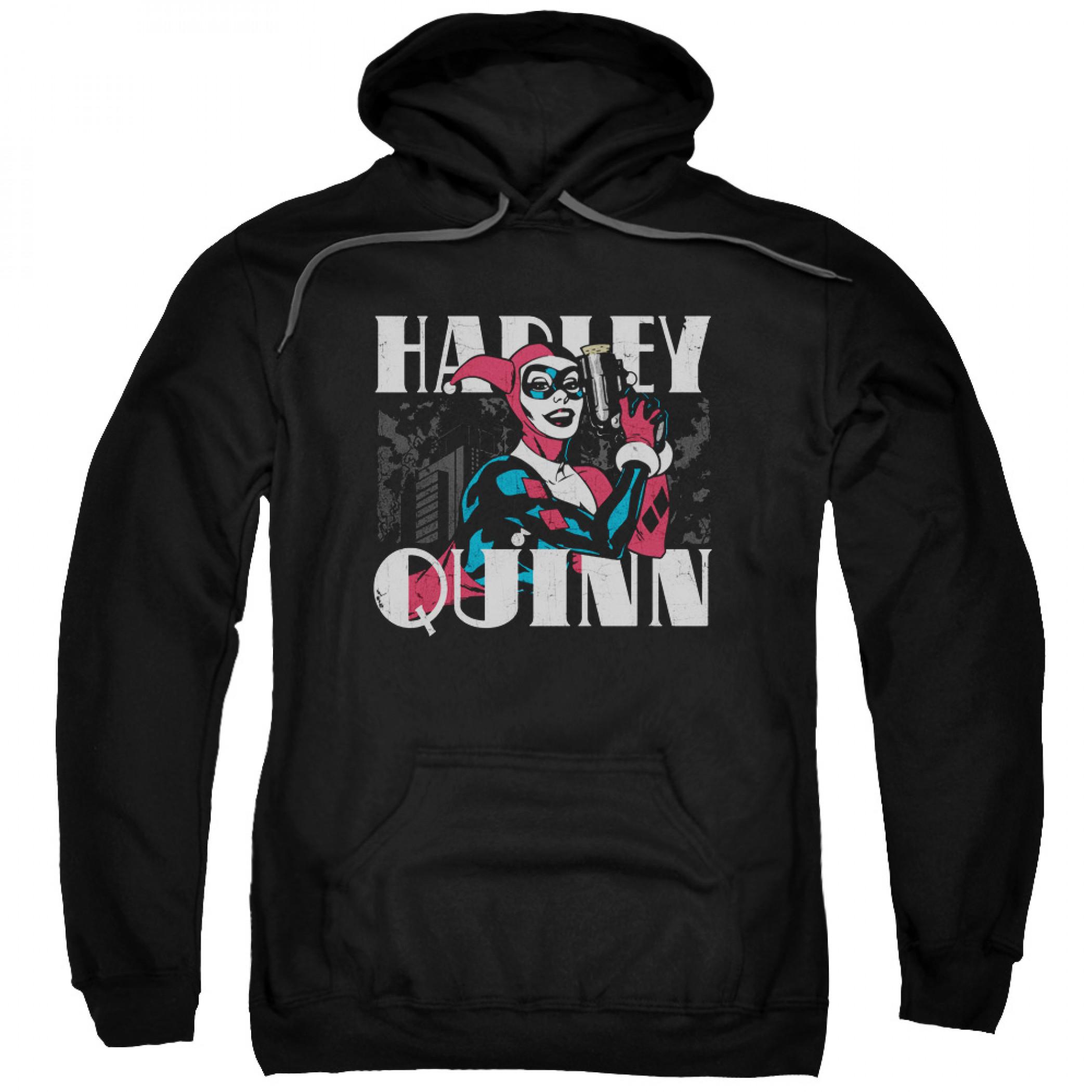 Harley Quinn Men's Black Hoodie