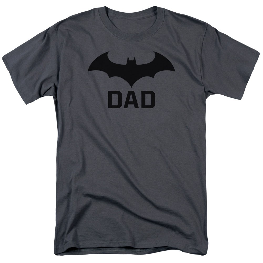 Batman Logo Dad Gray T-Shirt