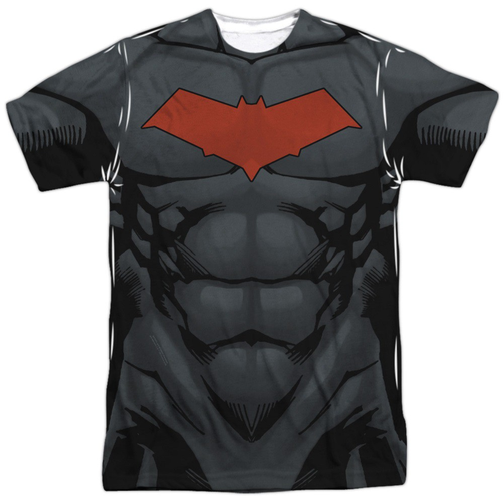 Batman Red Hood Front and Back Print Costume Tee