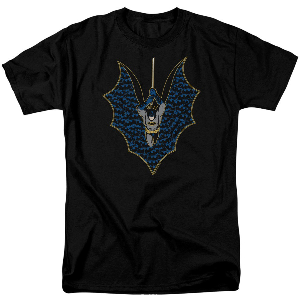 Batman Cape Logos Men's Black T-Shirt