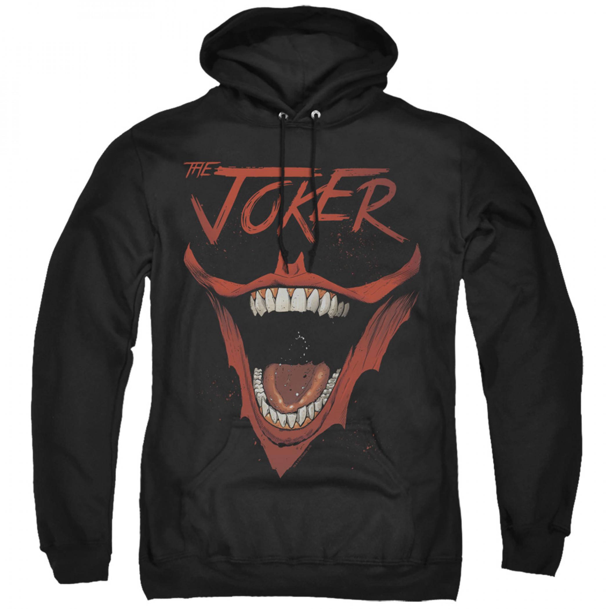 The Joker Bat Logo Smile Black Hoodie